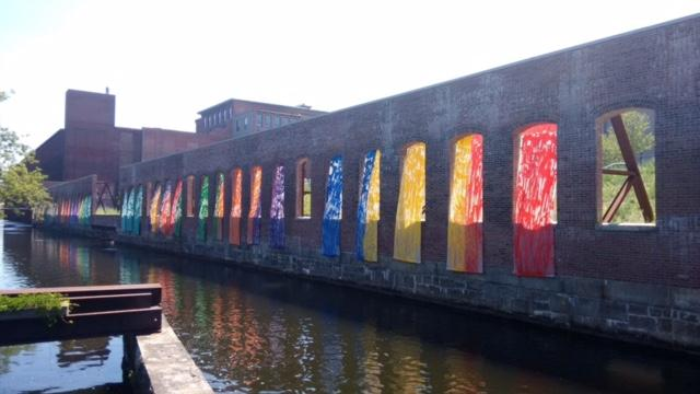 Pictured above is Barbara Poole's 'Veils of Color', a public art project funded by the LCC.