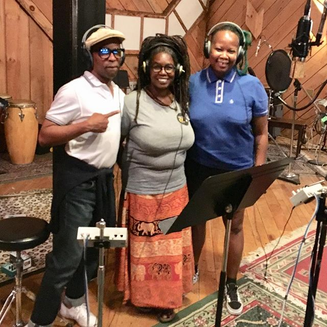 In the studio with @rudeboyroger1 @hccoleman and @dubyogini working on the new album! It's sounding dope! #reggae #ska #collaboration #studiolife