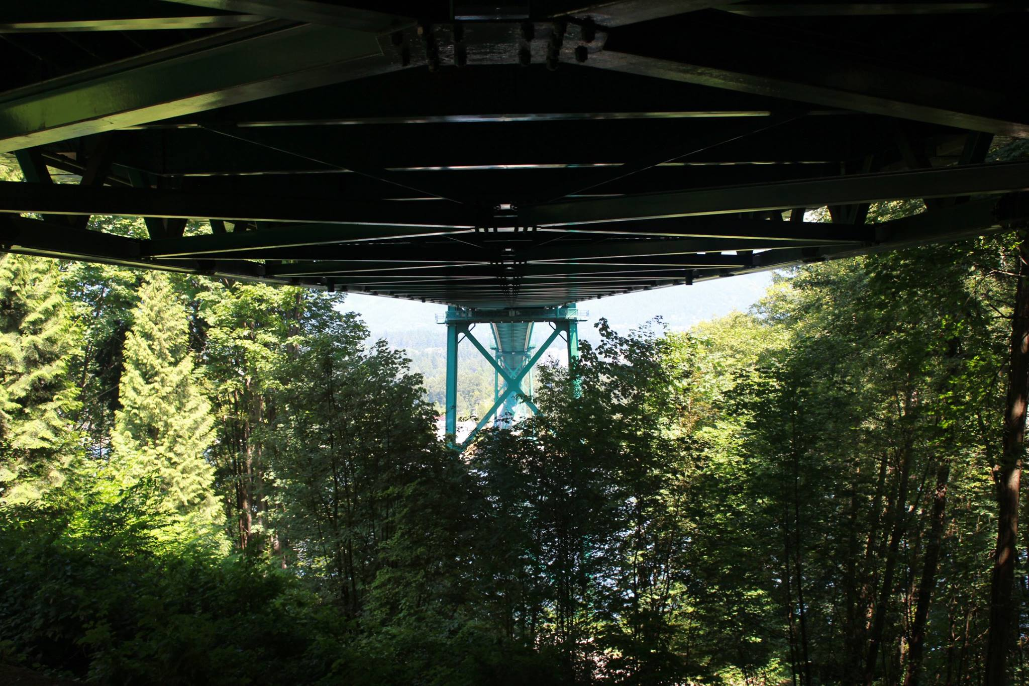 Underneath the lion gate bridge.