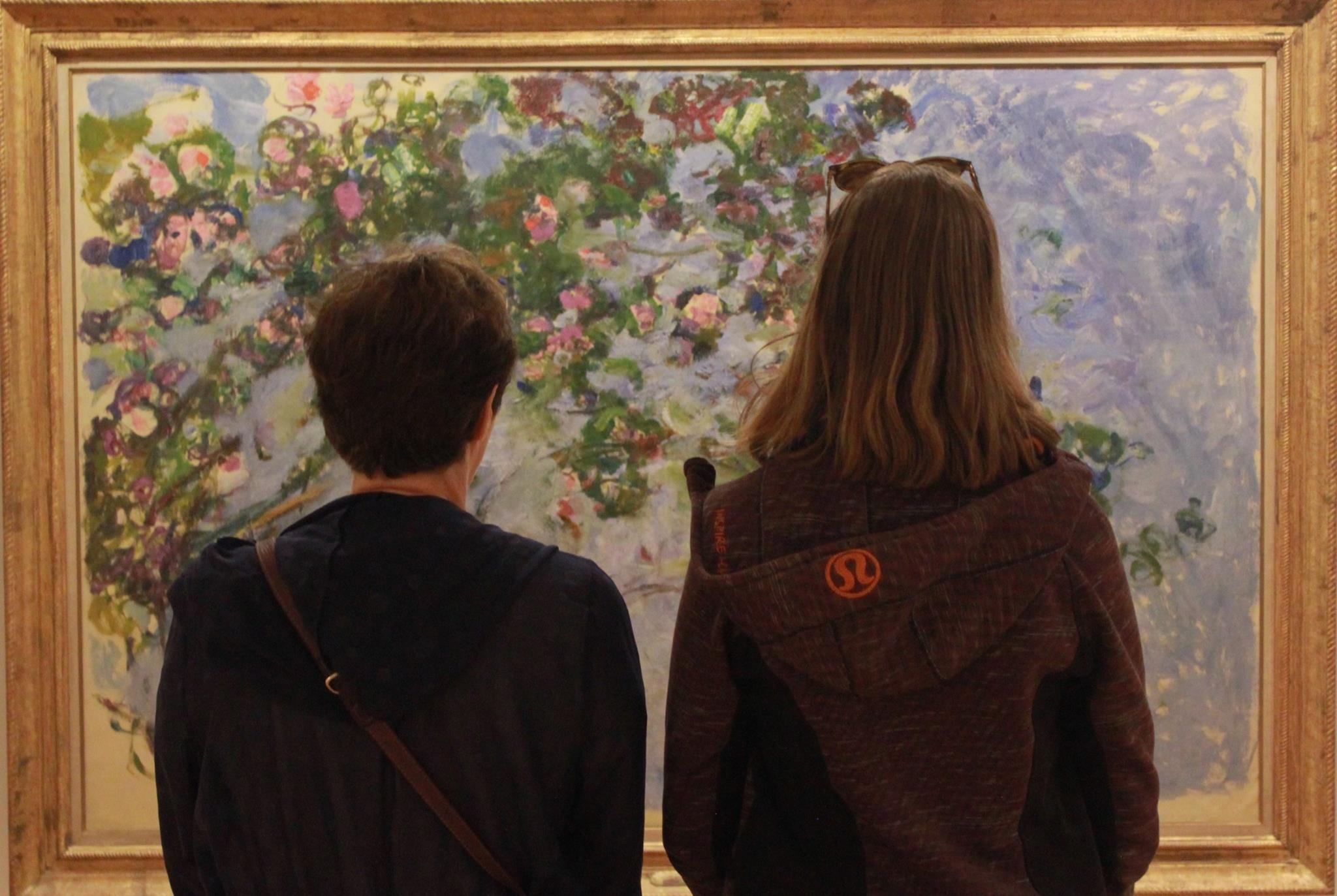 The next day we went to see the Monet exhibition at the Vancouver Art Gallery with my mother.
