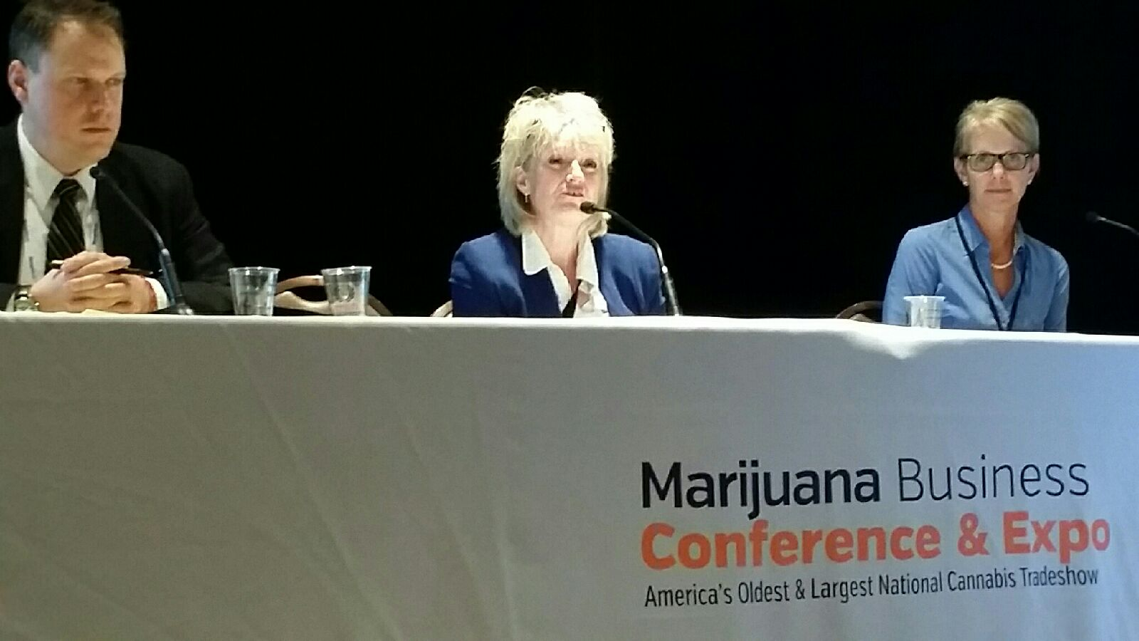 On a panel at Marijuana Business Conference & Expo (Las Vegas, NV)