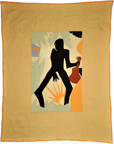 Lazy Man , designed by Ruth Clement Bond, stitched by Rose Marie Thomas, 1934. From Michigan State University Museum, Michigan State University Museum Collection. Published in  The Quilt Index , http://www.quiltindex.org/basicdisplay.php?kid=1E-3D-260A. Accessed: 01/2/2018