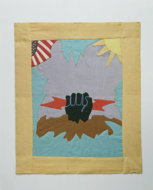 Black Power , designed by Ruth Clement Bond, stitched by Rosa Marie Thomas, 1934. Museum of Arts and Design, gift of Mrs. Rosa Philips Thomas in 1994