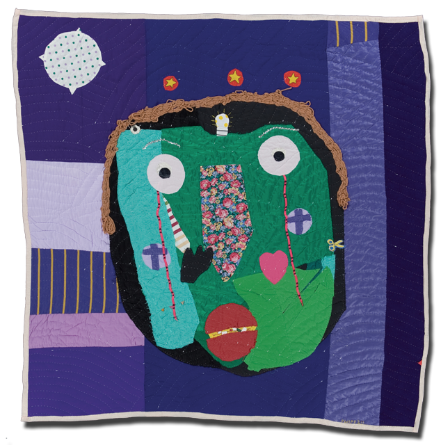 Yvonne Wells, 'Me, Masked II,' dated 1993, 60 x 61 in.