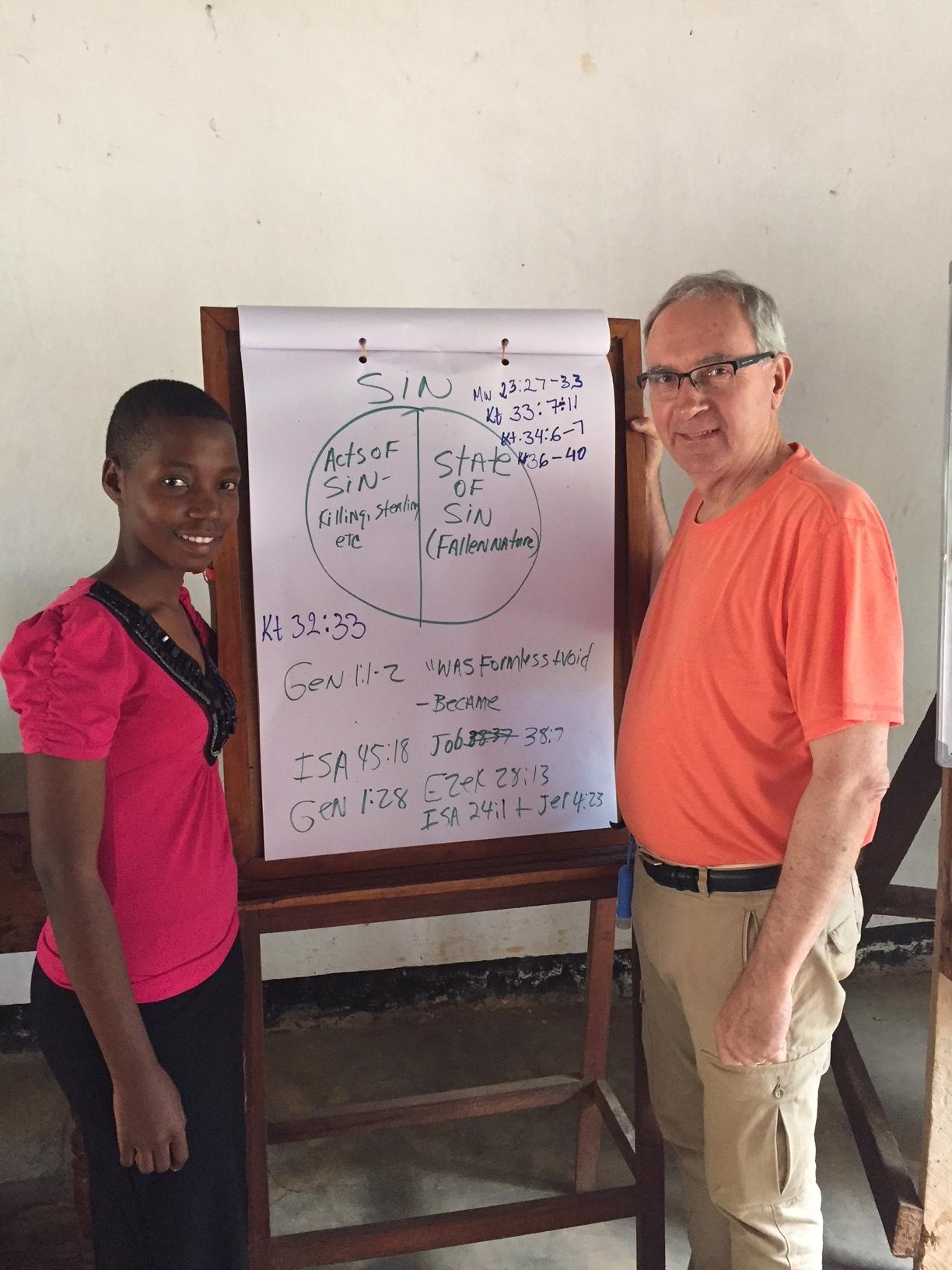 Felista interpreting at the Pastor's School