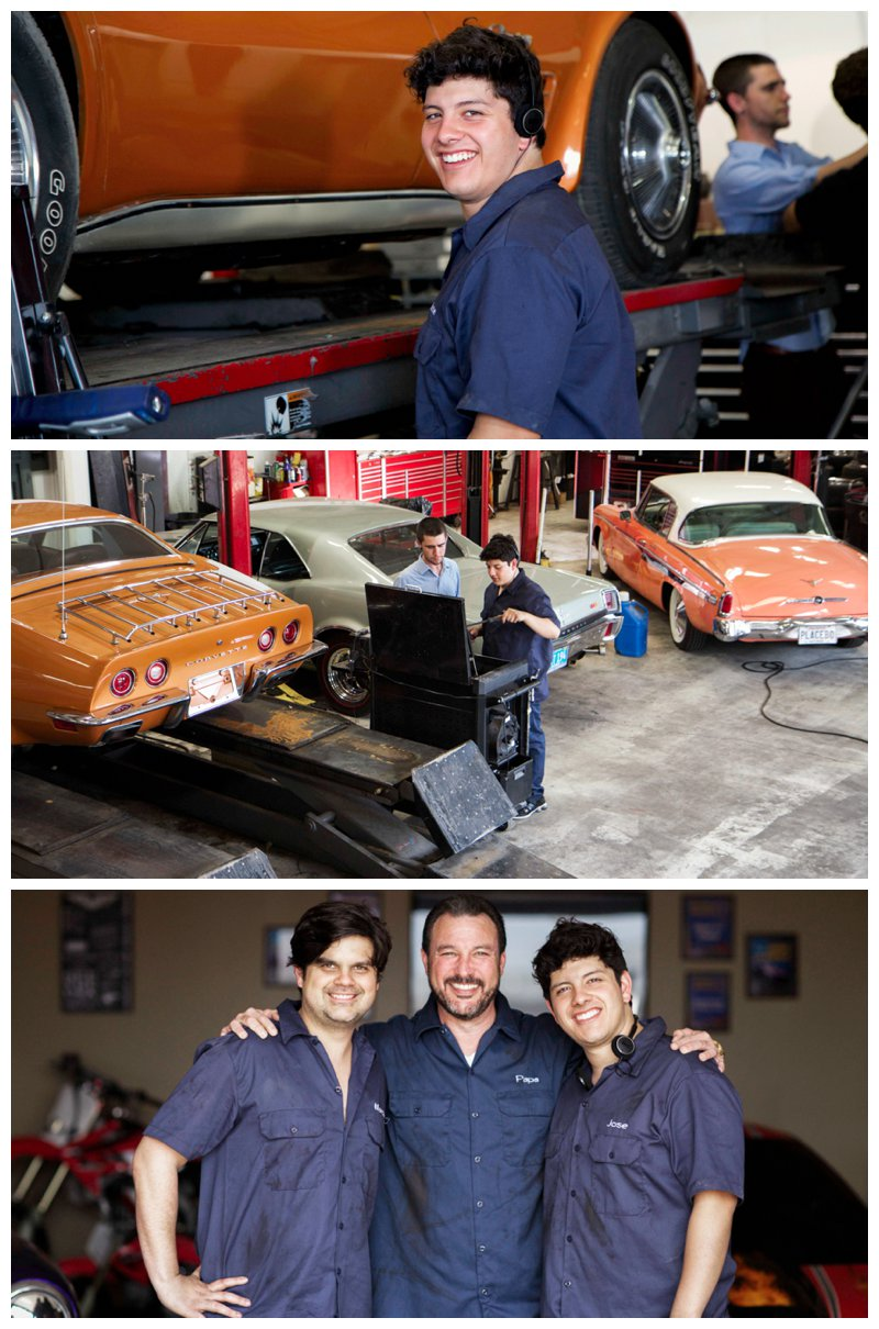Behind the Scenes. - Working with Classic Cars was more enjoyable for our three main actors Blain, Randy and Eduardo. What a joy to work with in Classic Restoration.