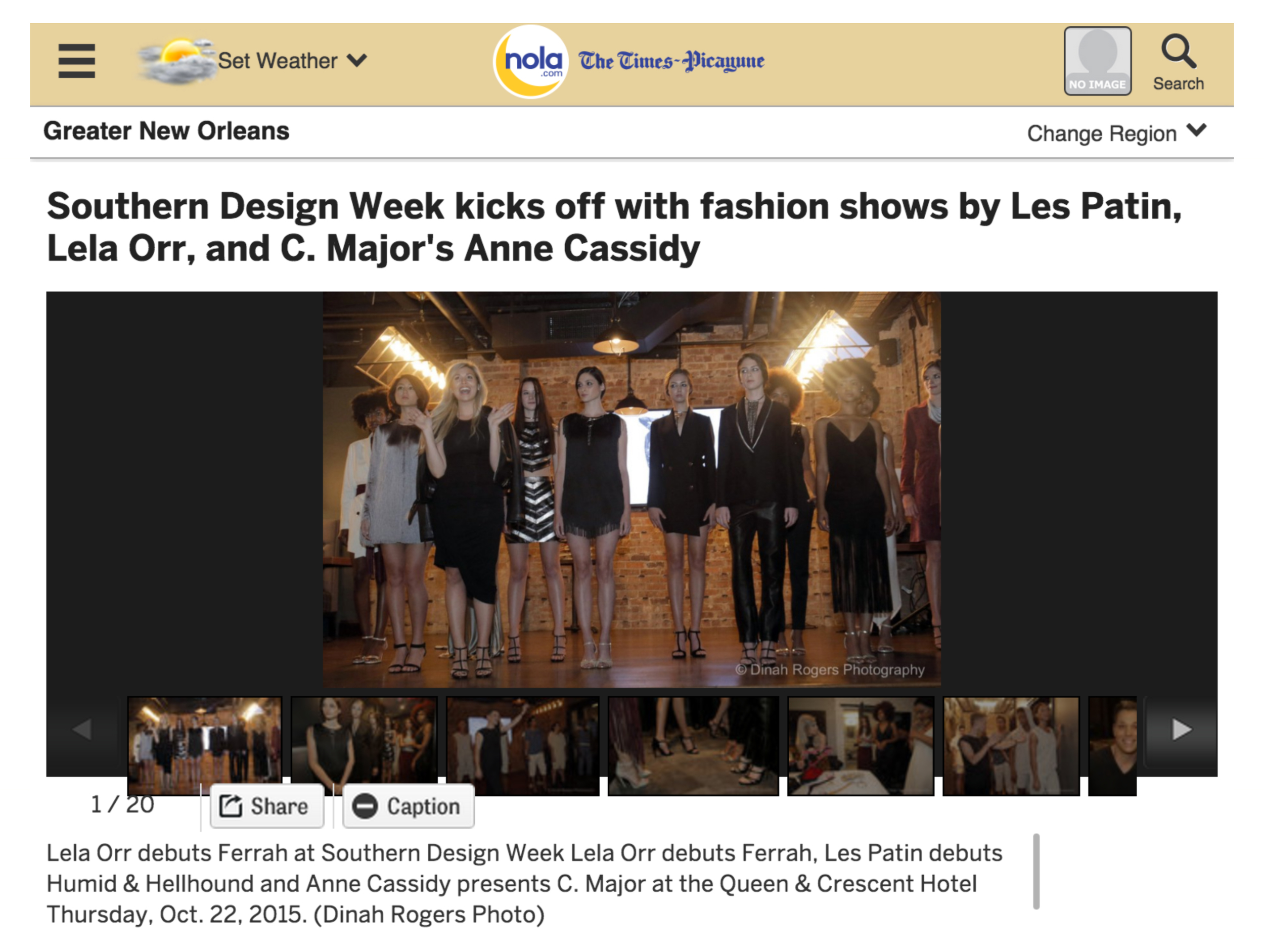 Southern Design Week Page One