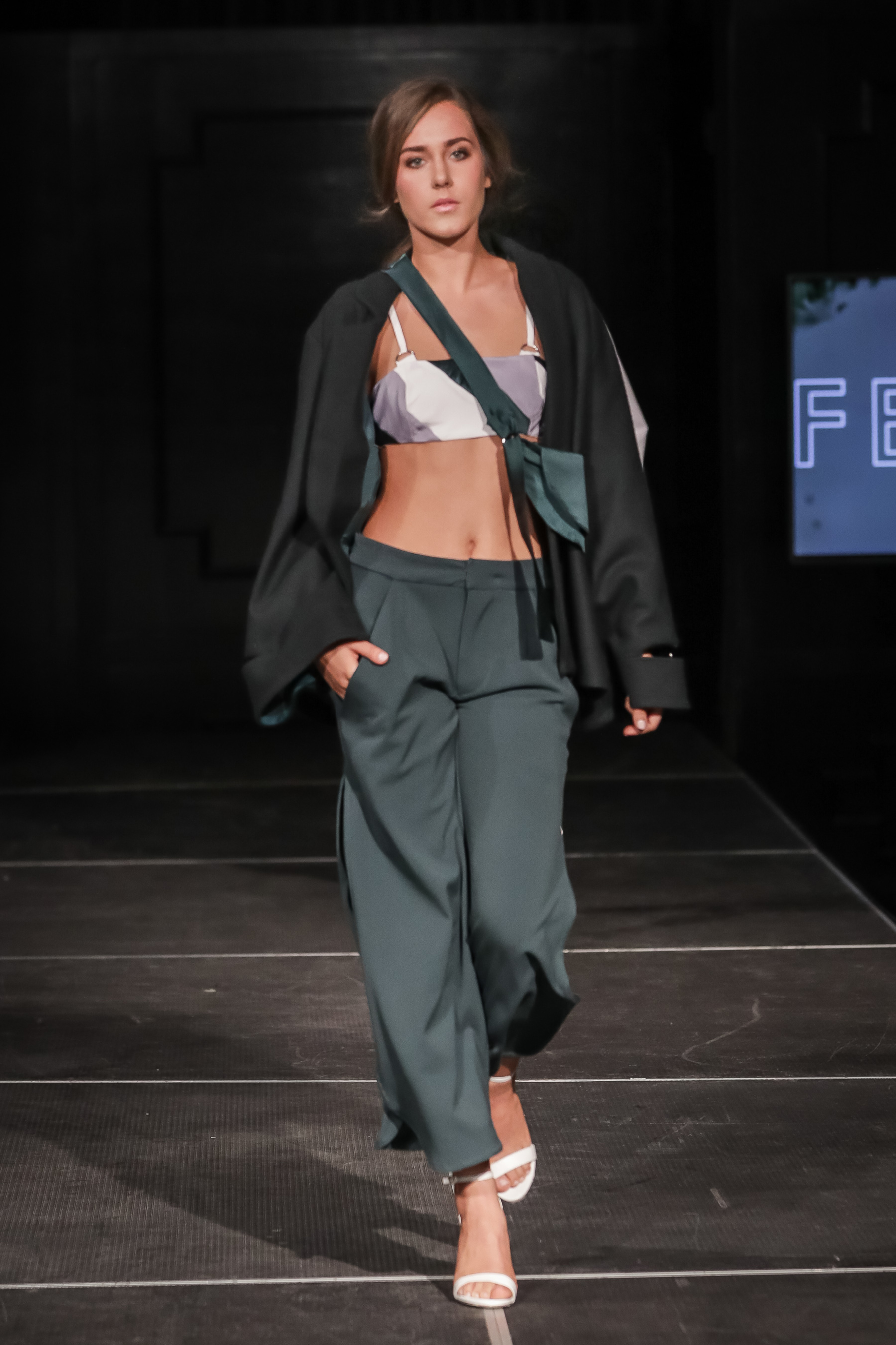 FERRAH SS 18 Look 7 -  i :  Frida Wrap Jacket    ii : Nara Bralette Topiii : Georgia Draped Culotte