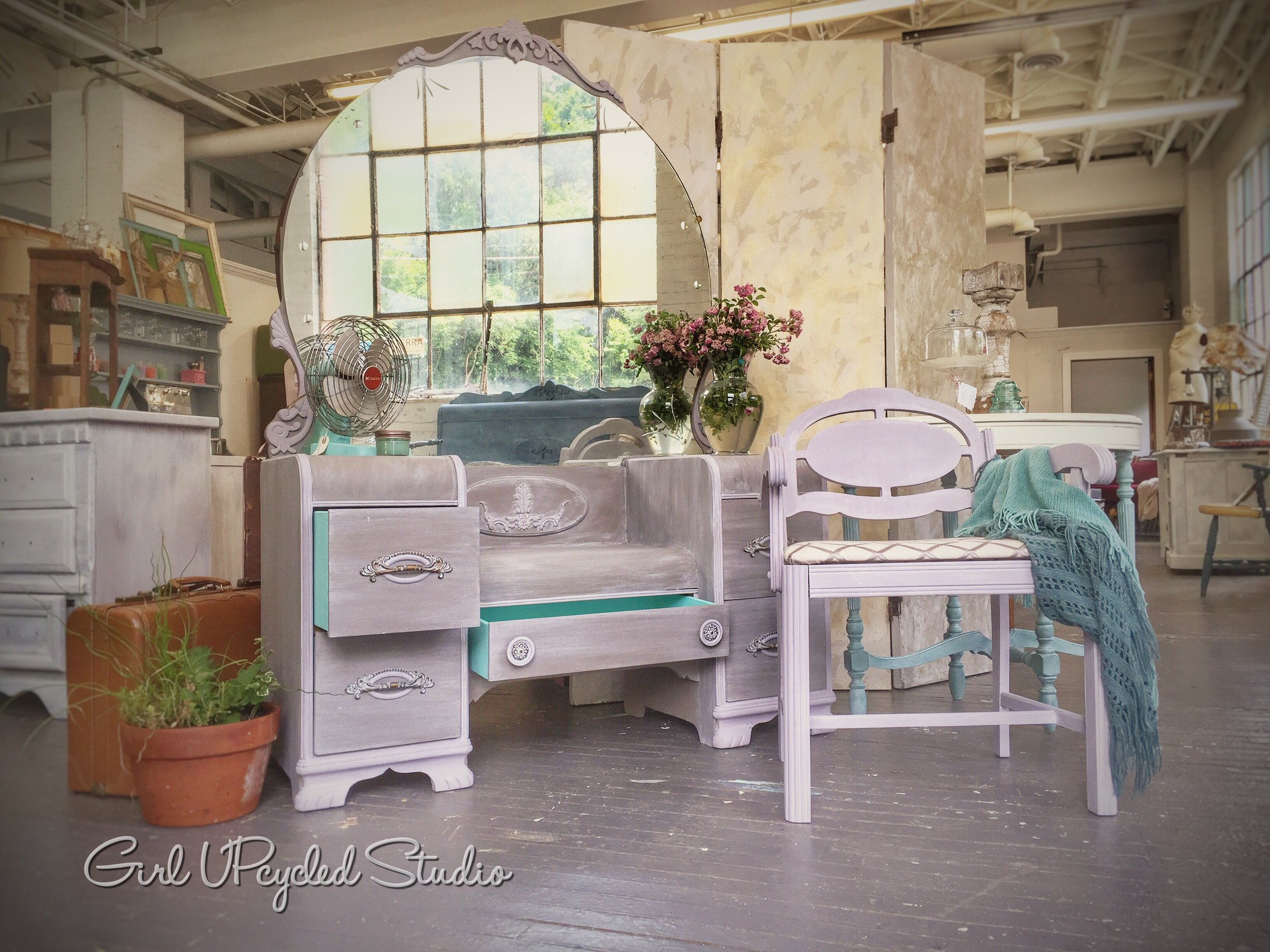 Soft hues of grey and lavender (accented details by Iron Orchid Designs IOD)