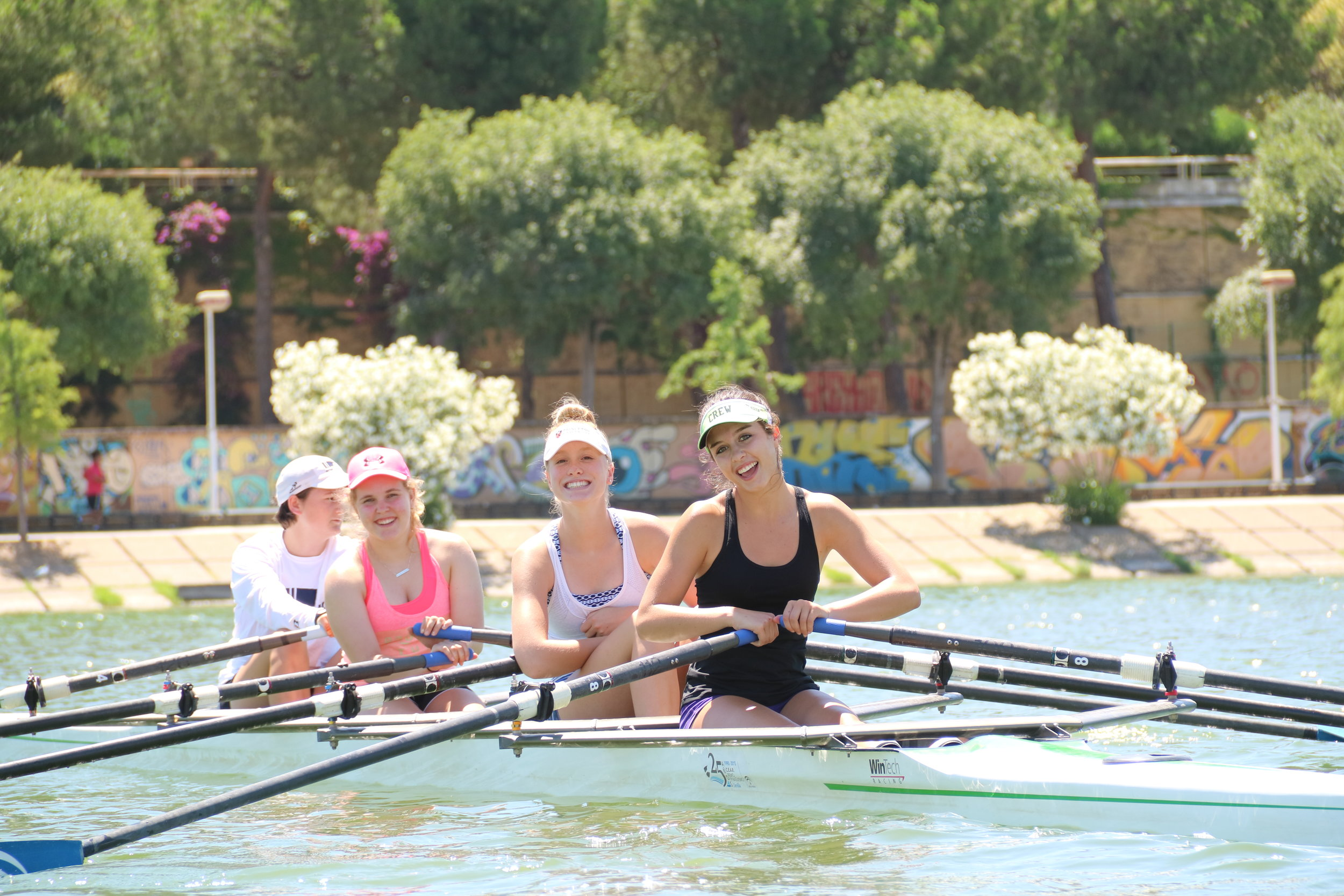 Fun rowing at the Spanish National Training Center in Sevilla