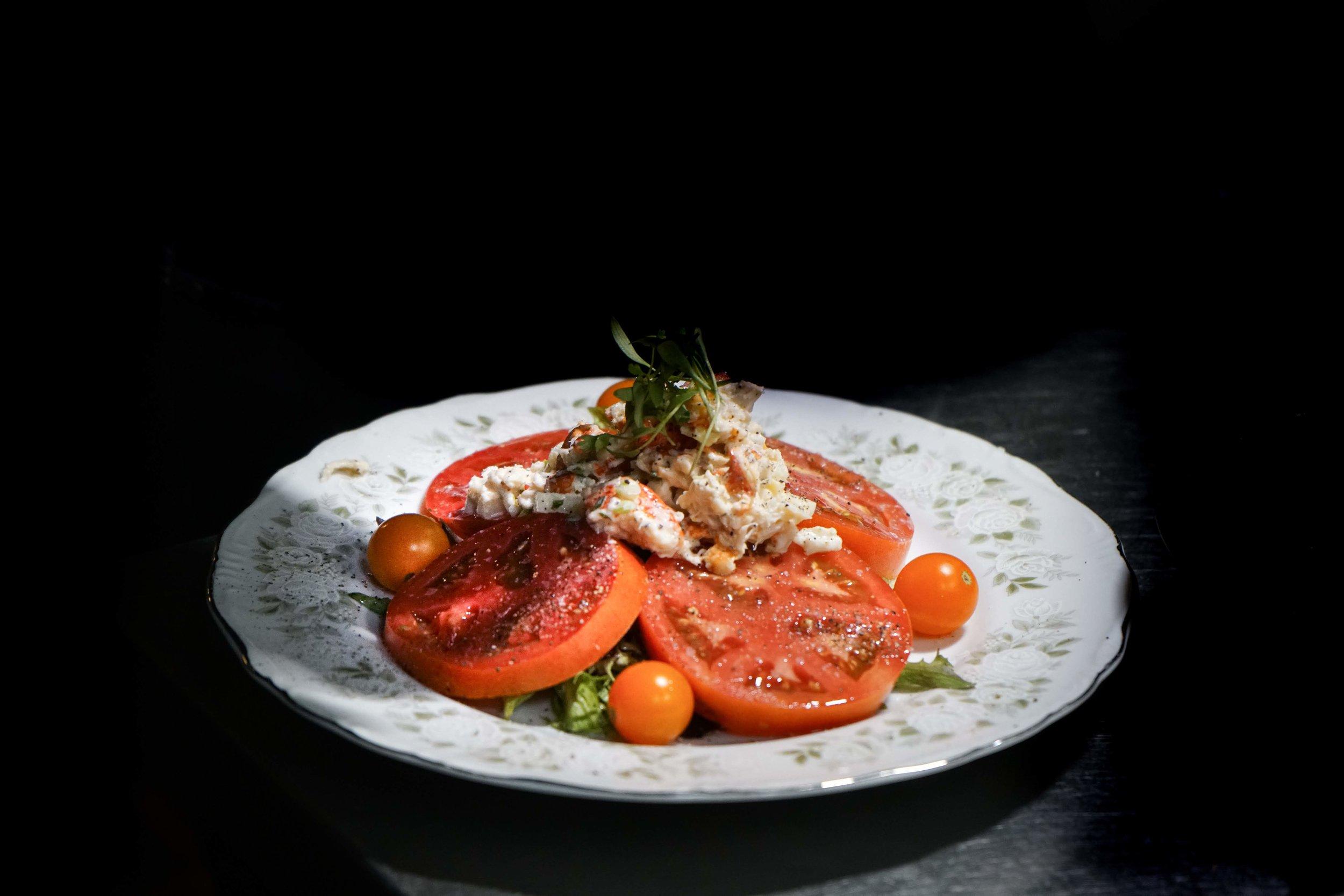 Seasonal Vegetable: Ripley Tomatoes with Lobster Salad