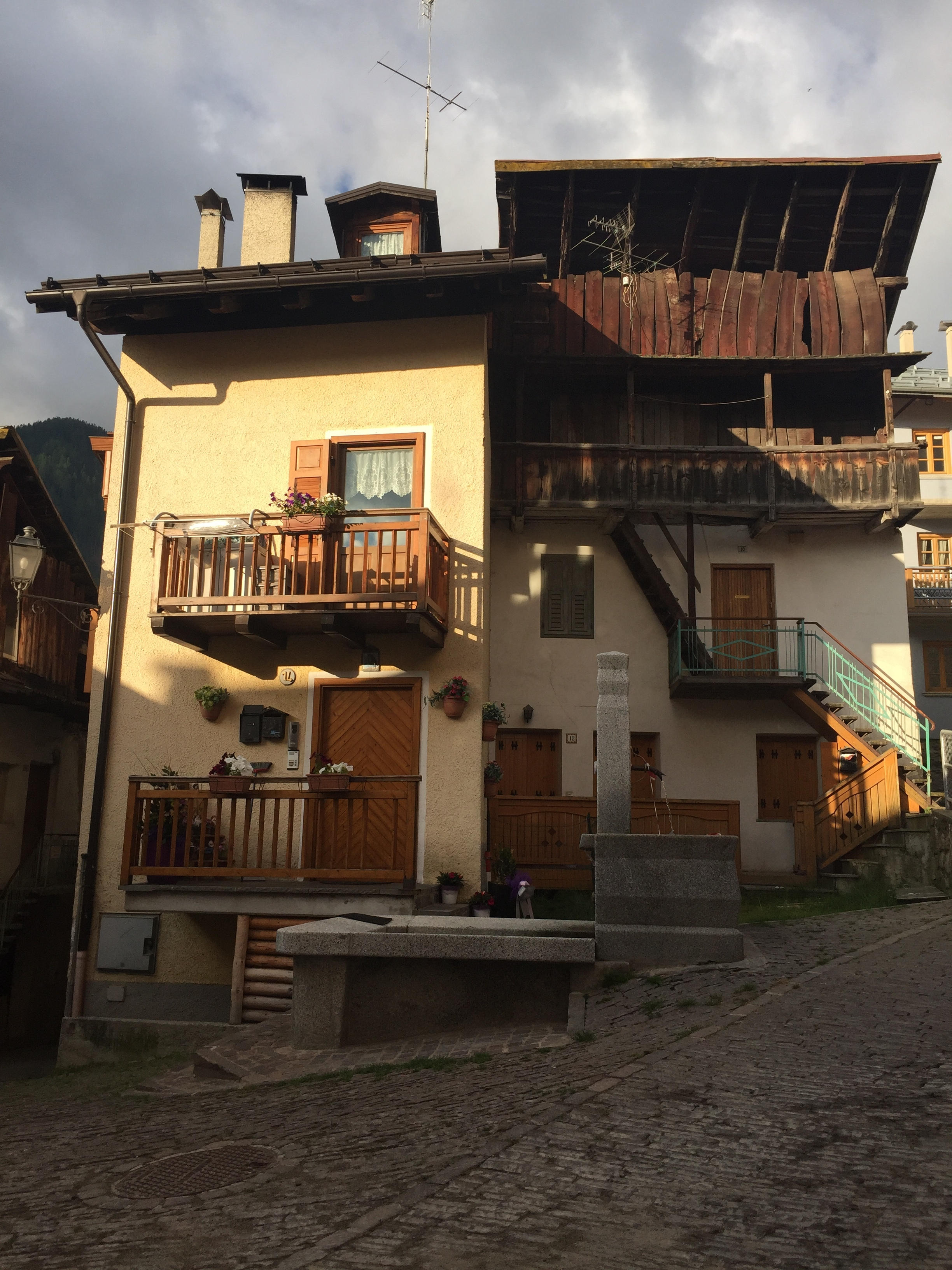 Downtown Vermiglio at sunrise