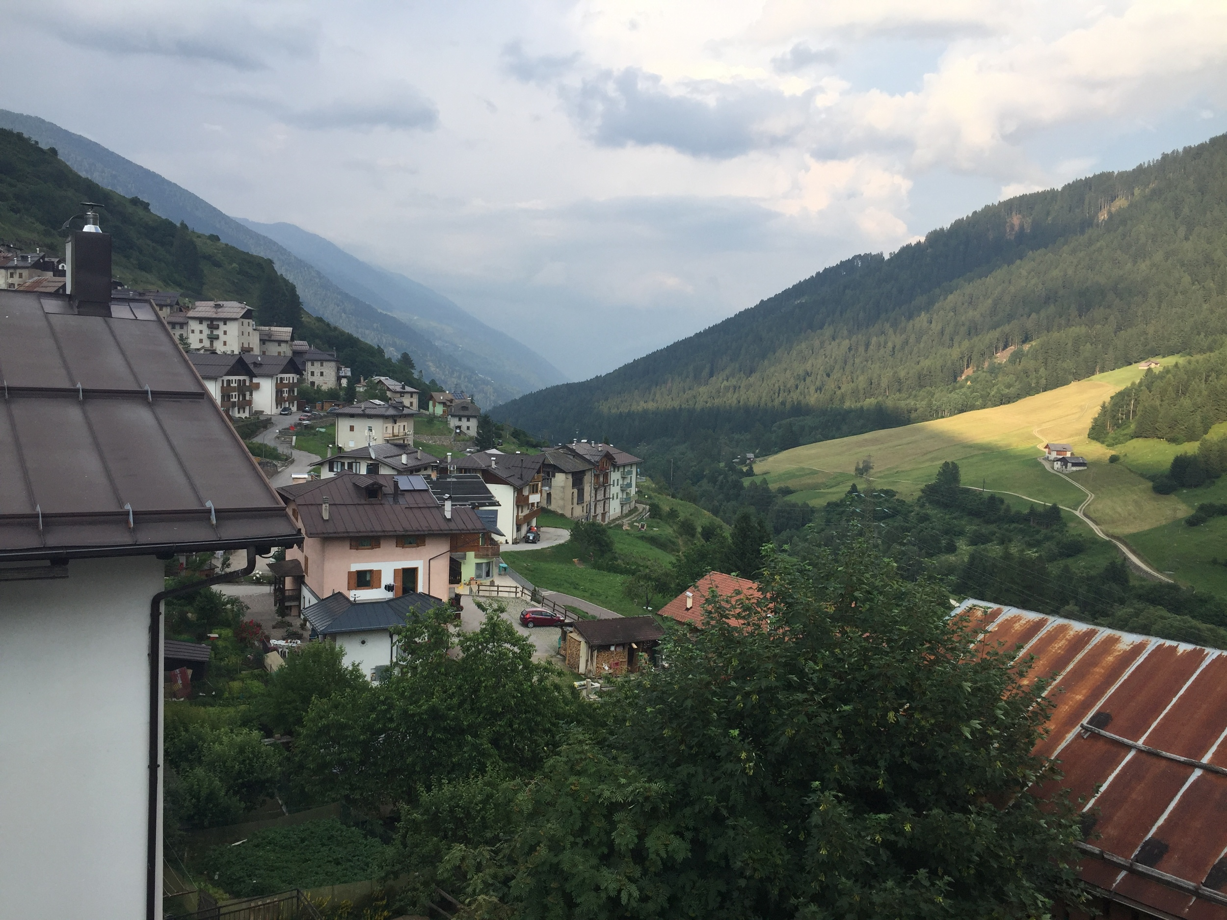 Our view of the val di sole from our bedroom window