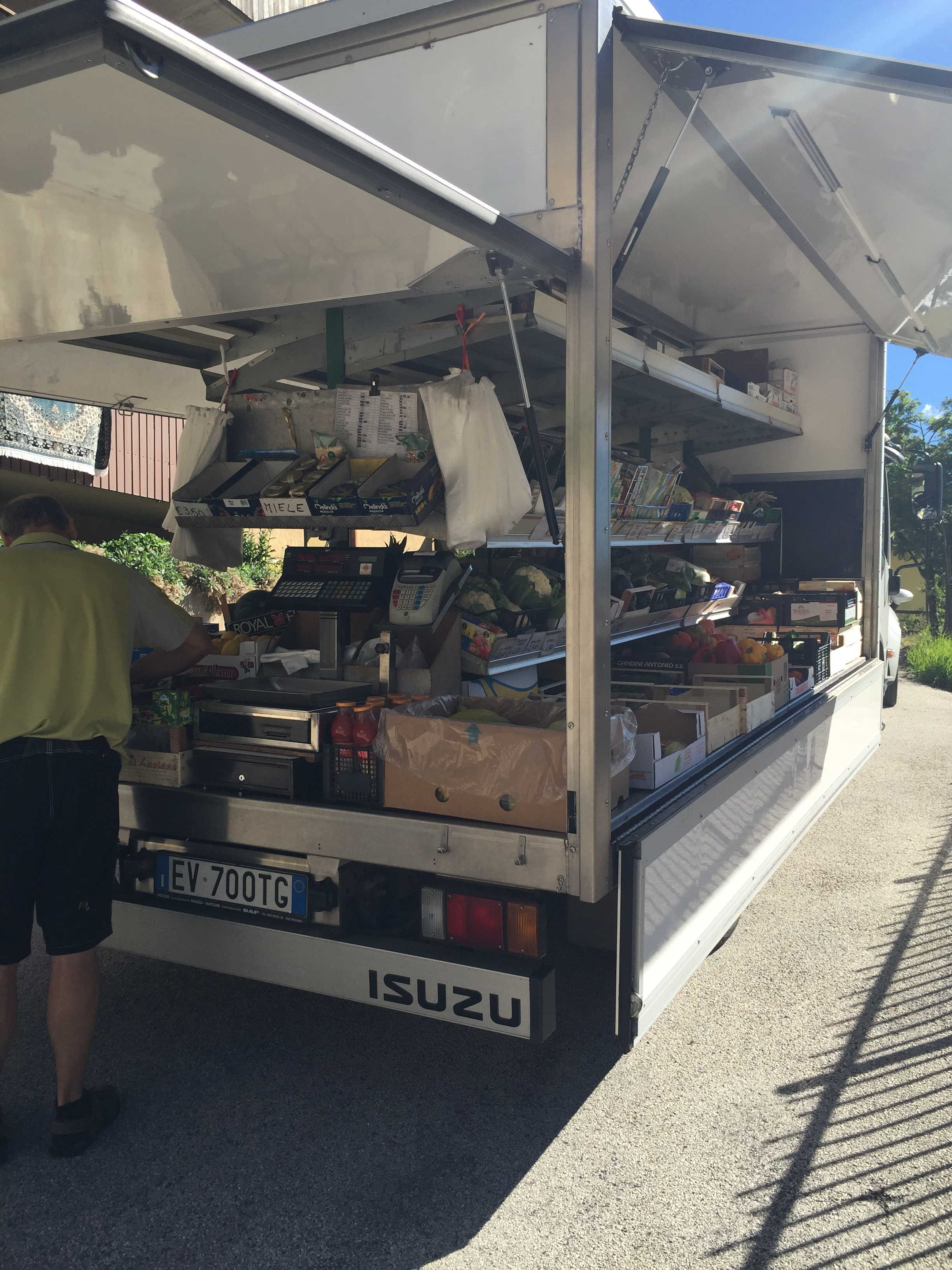 In Vermiglio, the grocery store comes to you!