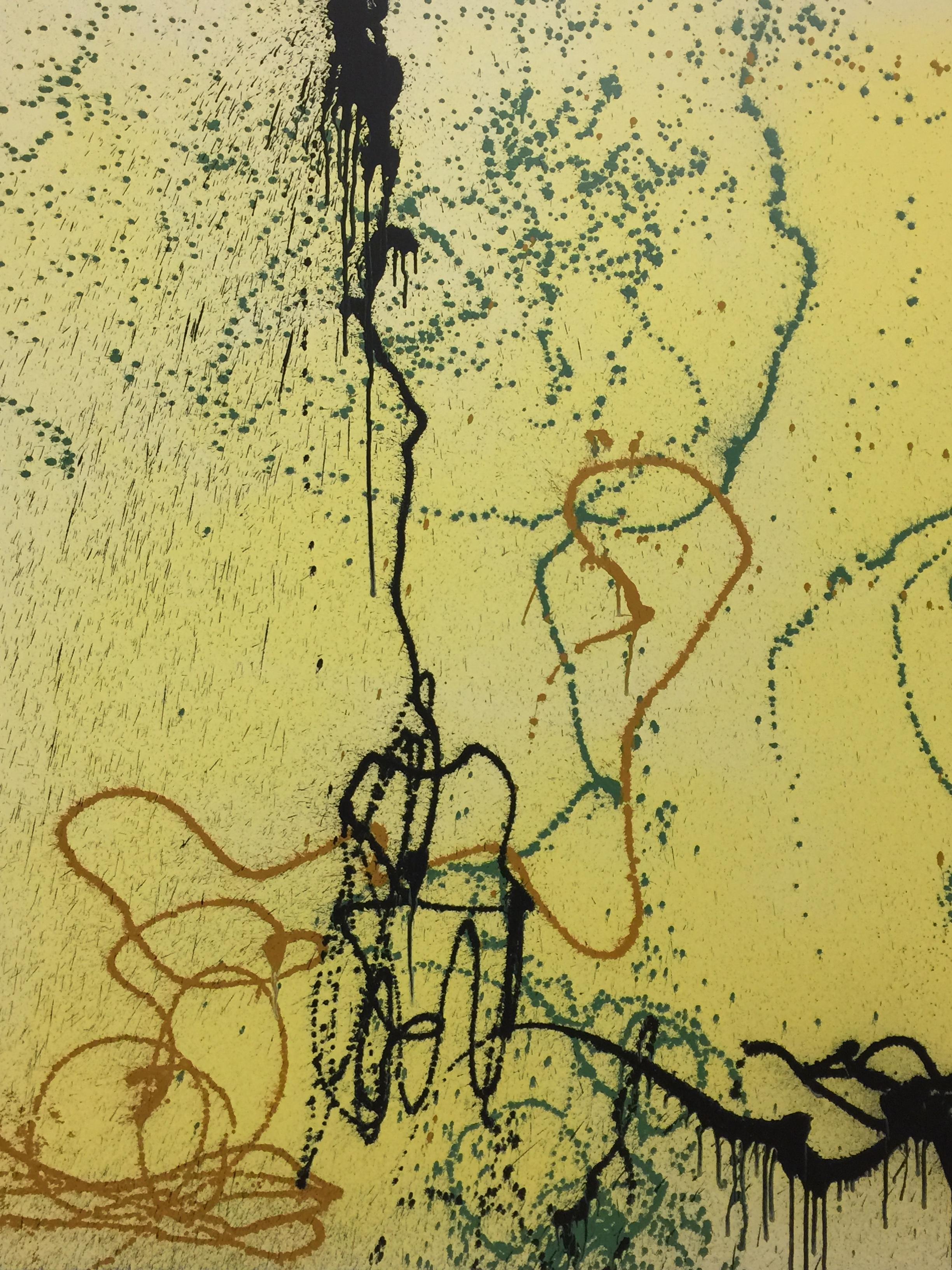 Closeup of Hans Hartung painting