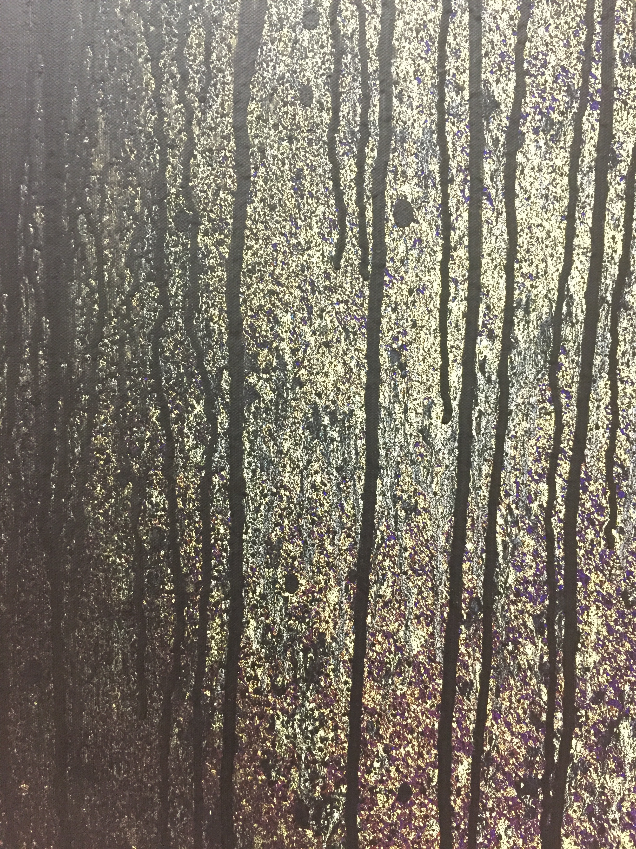 Closeup of Hartung painting