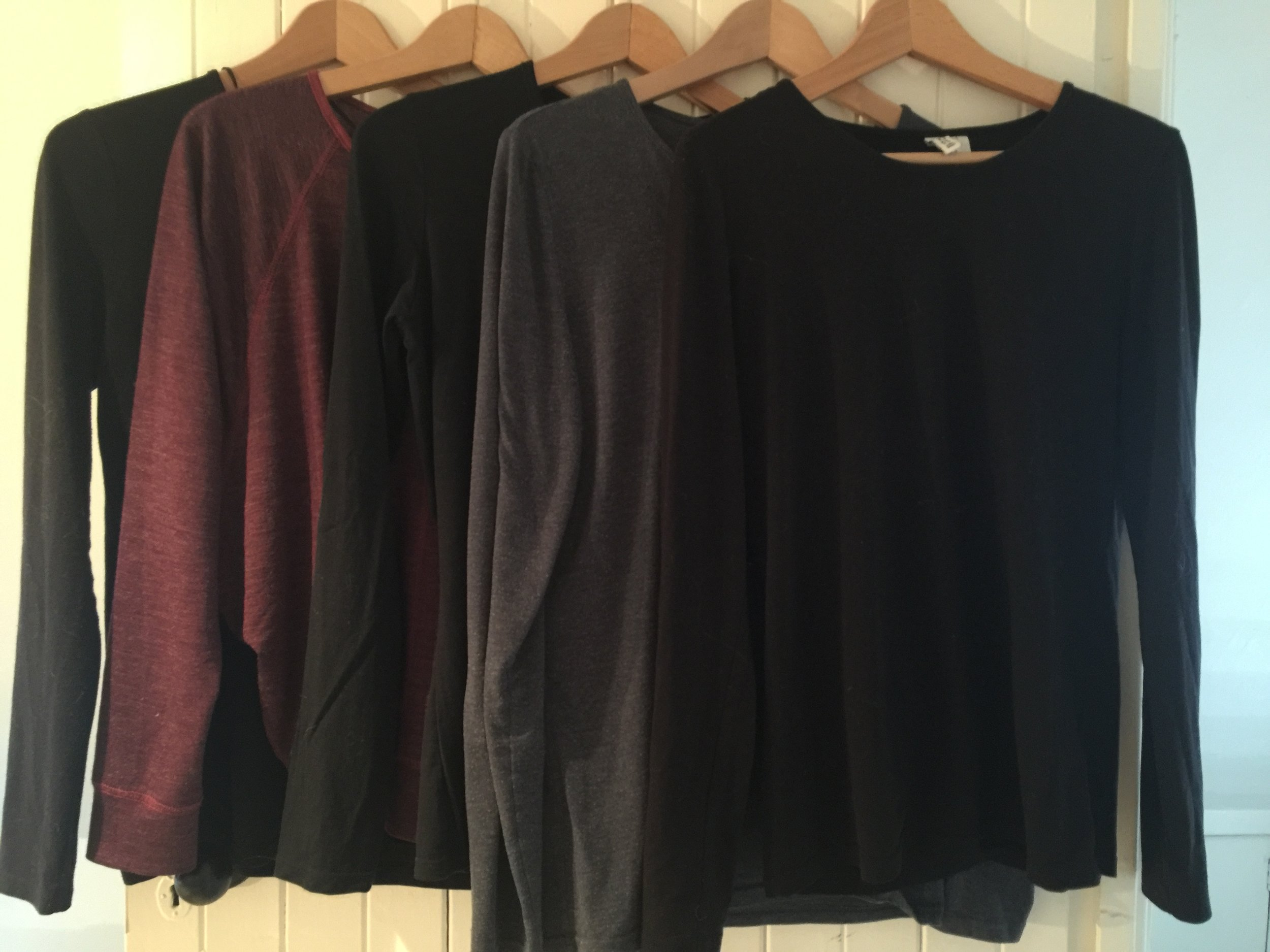 Travel Essentials - 5 Long Sleeve T's