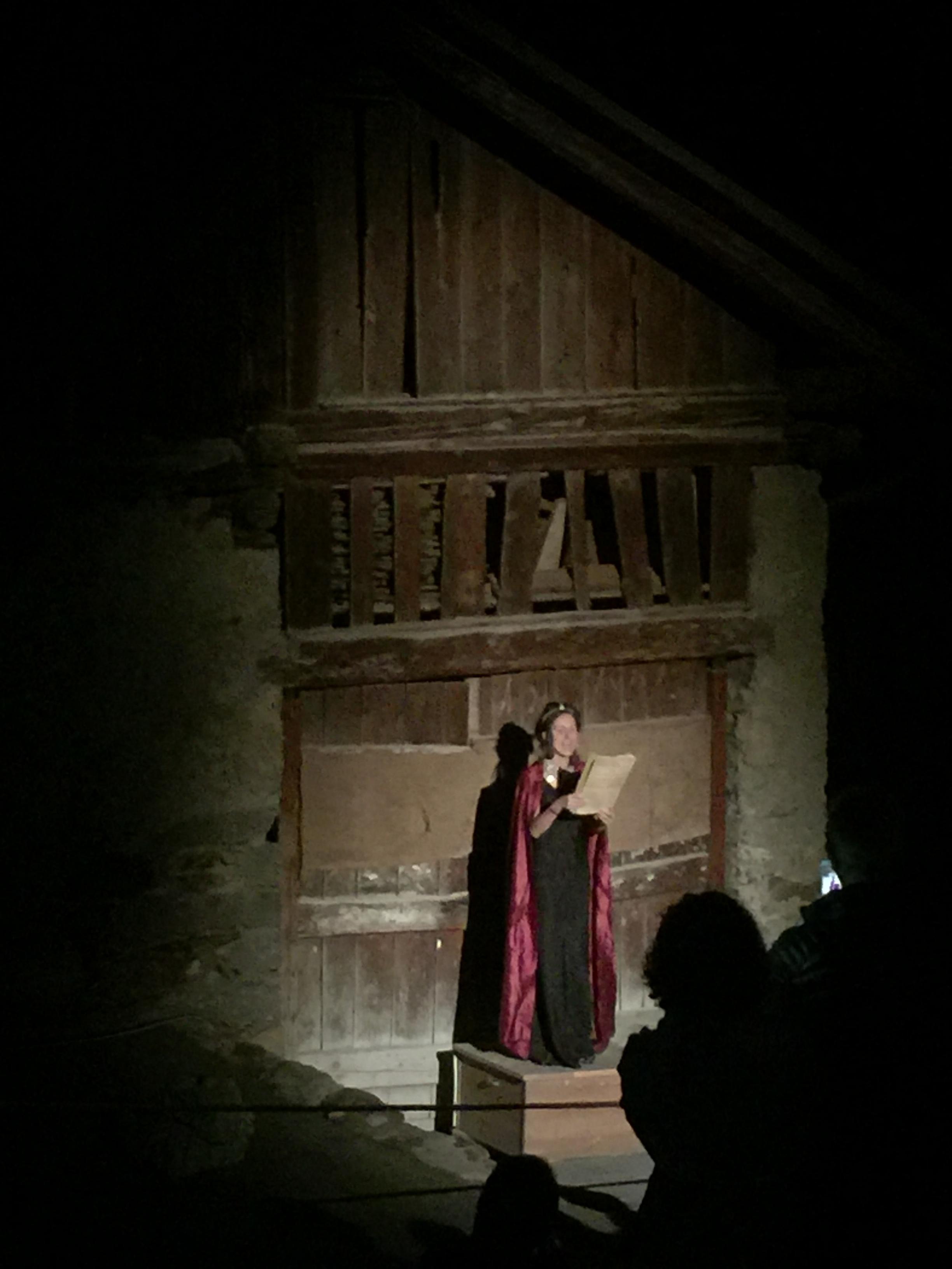 Outdoor theater Vermiglio, Italy