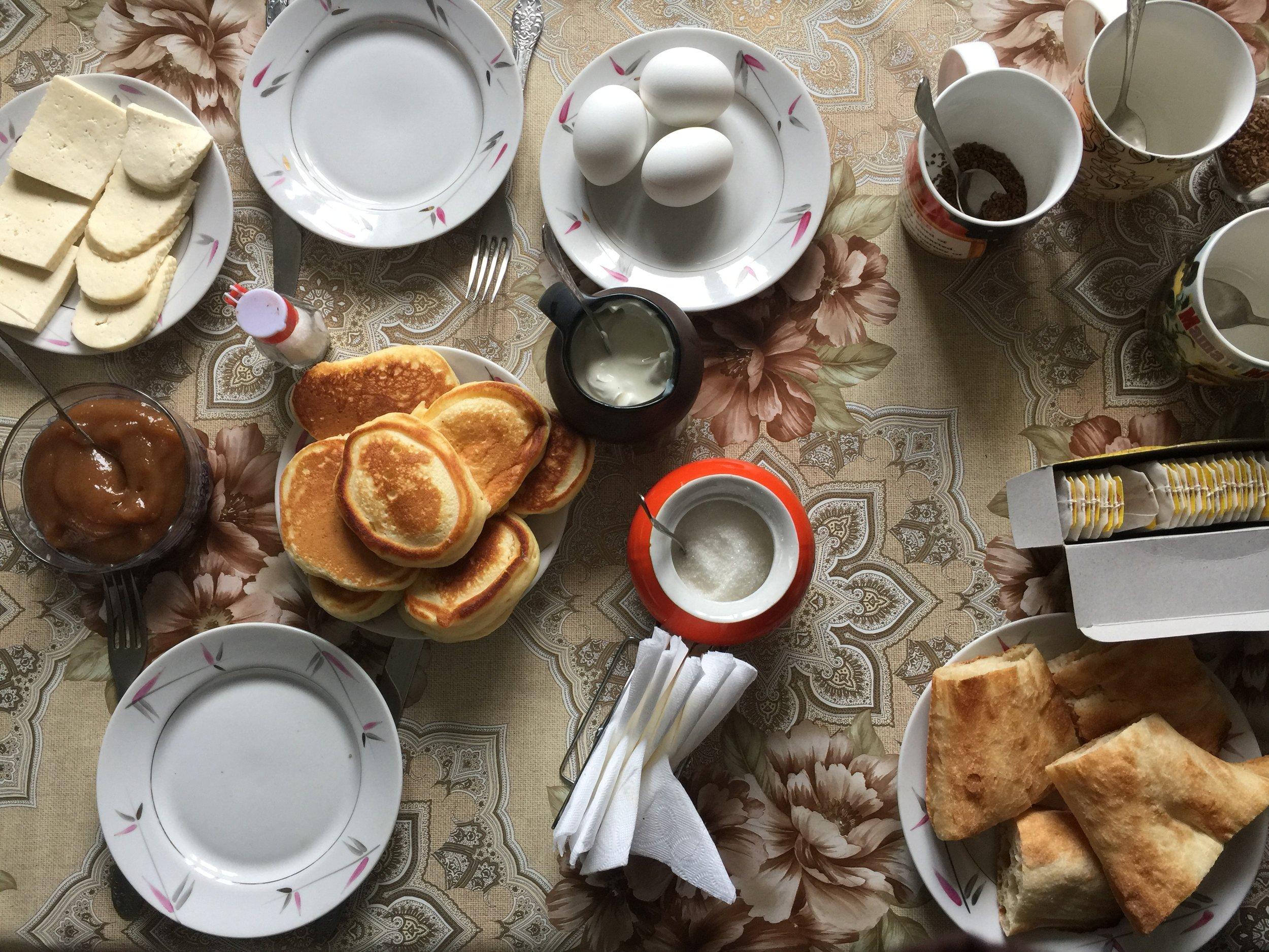 Fluffy pancakes for breakfast!