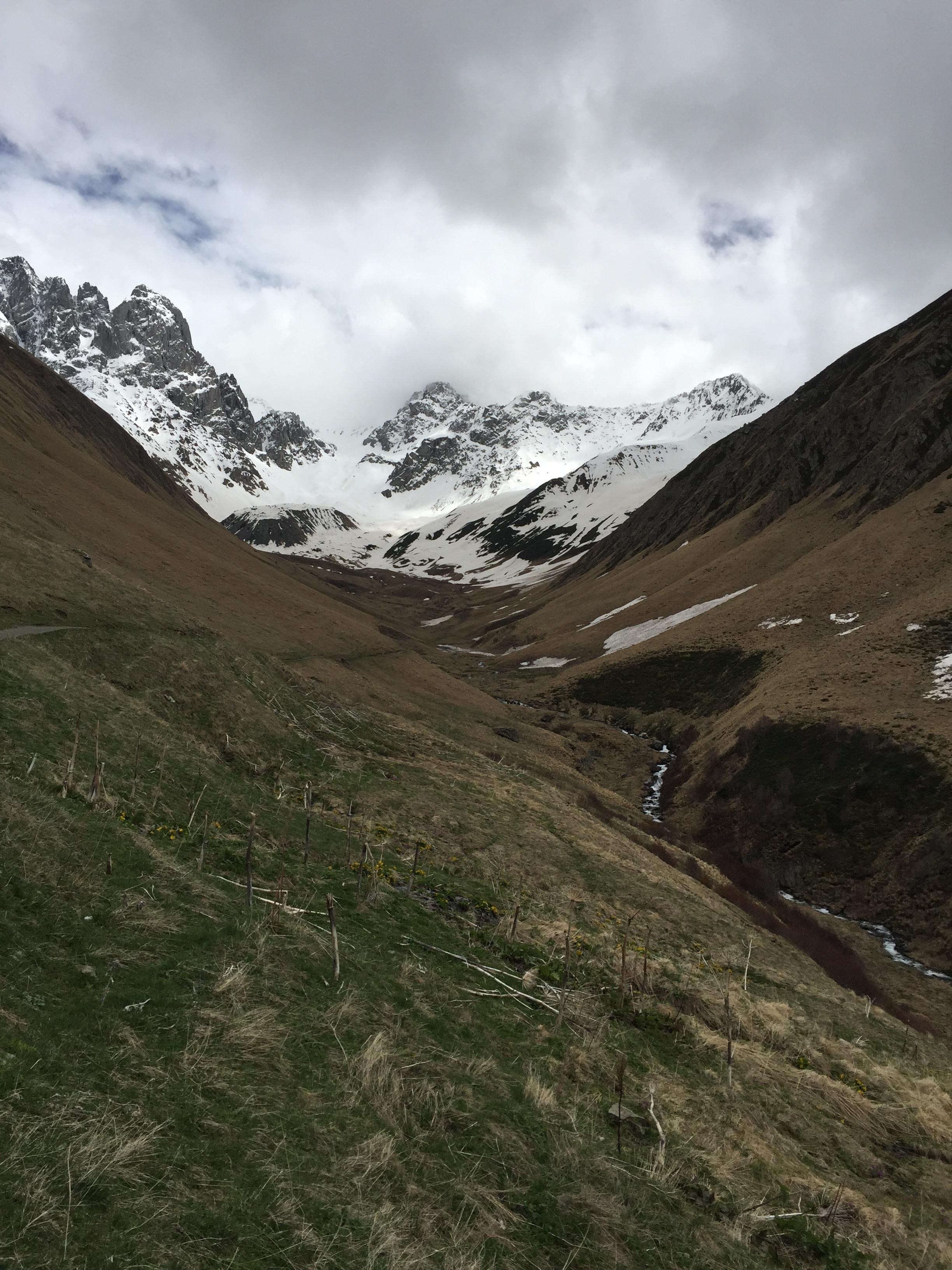 Our walk to the glacier