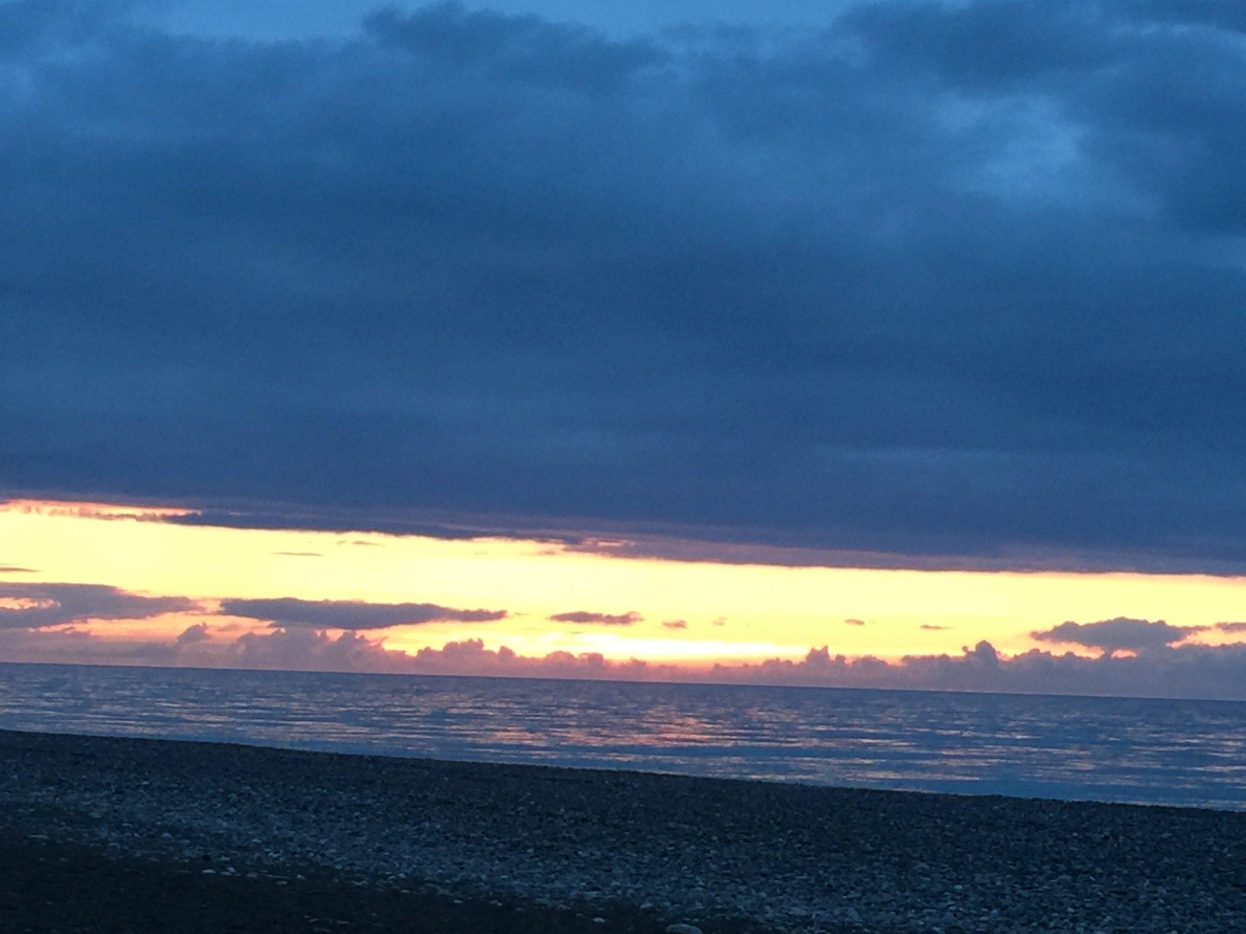 Cloudy Batumi sunset