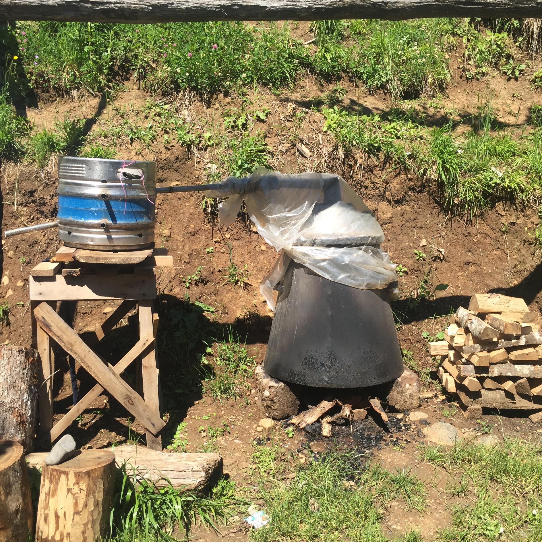 Cha cha distilling at Zebo's