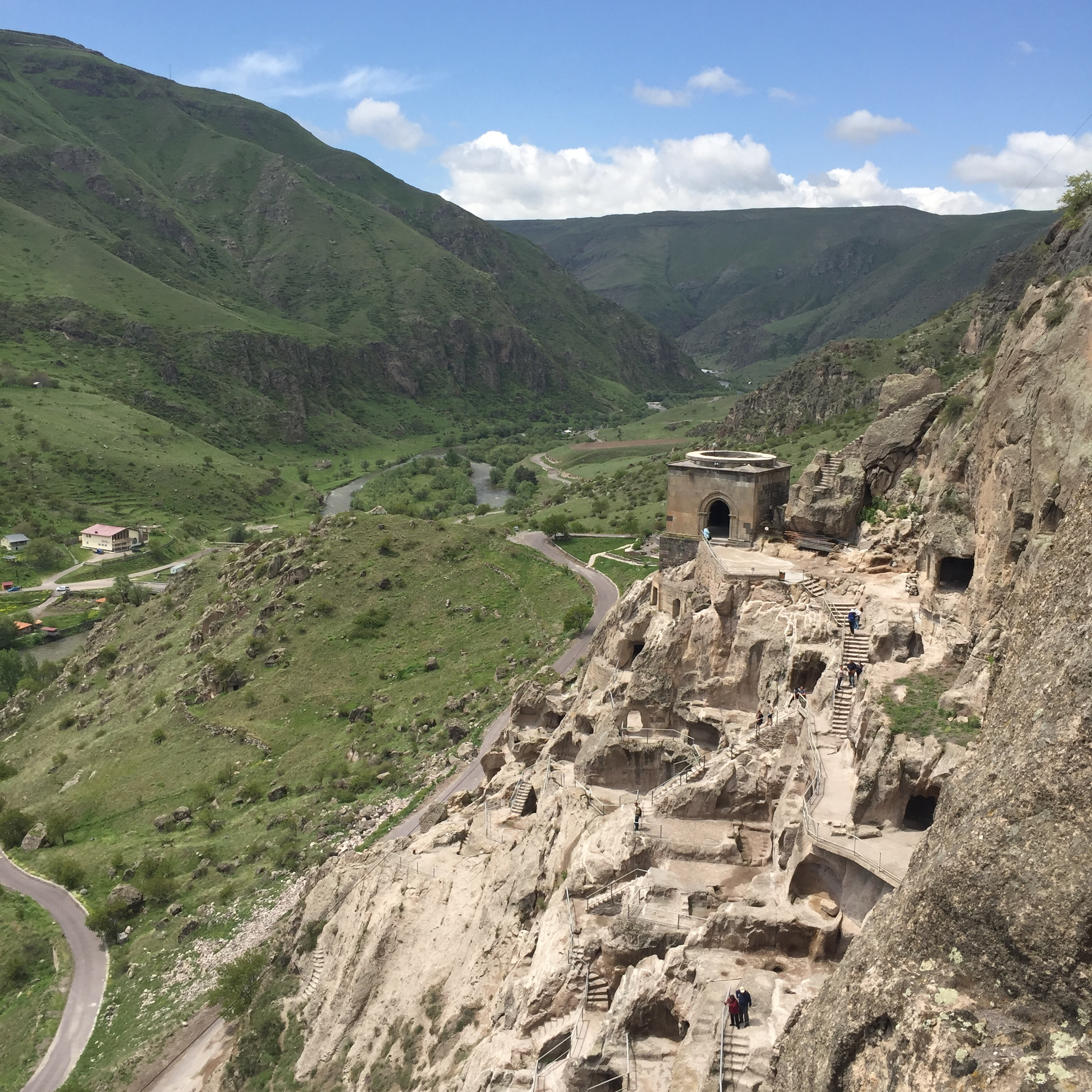 Another view of Vardzia cave city