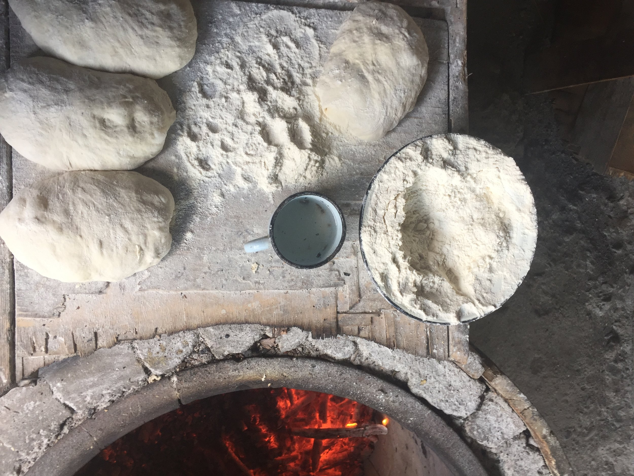 Dough before it meets the fire