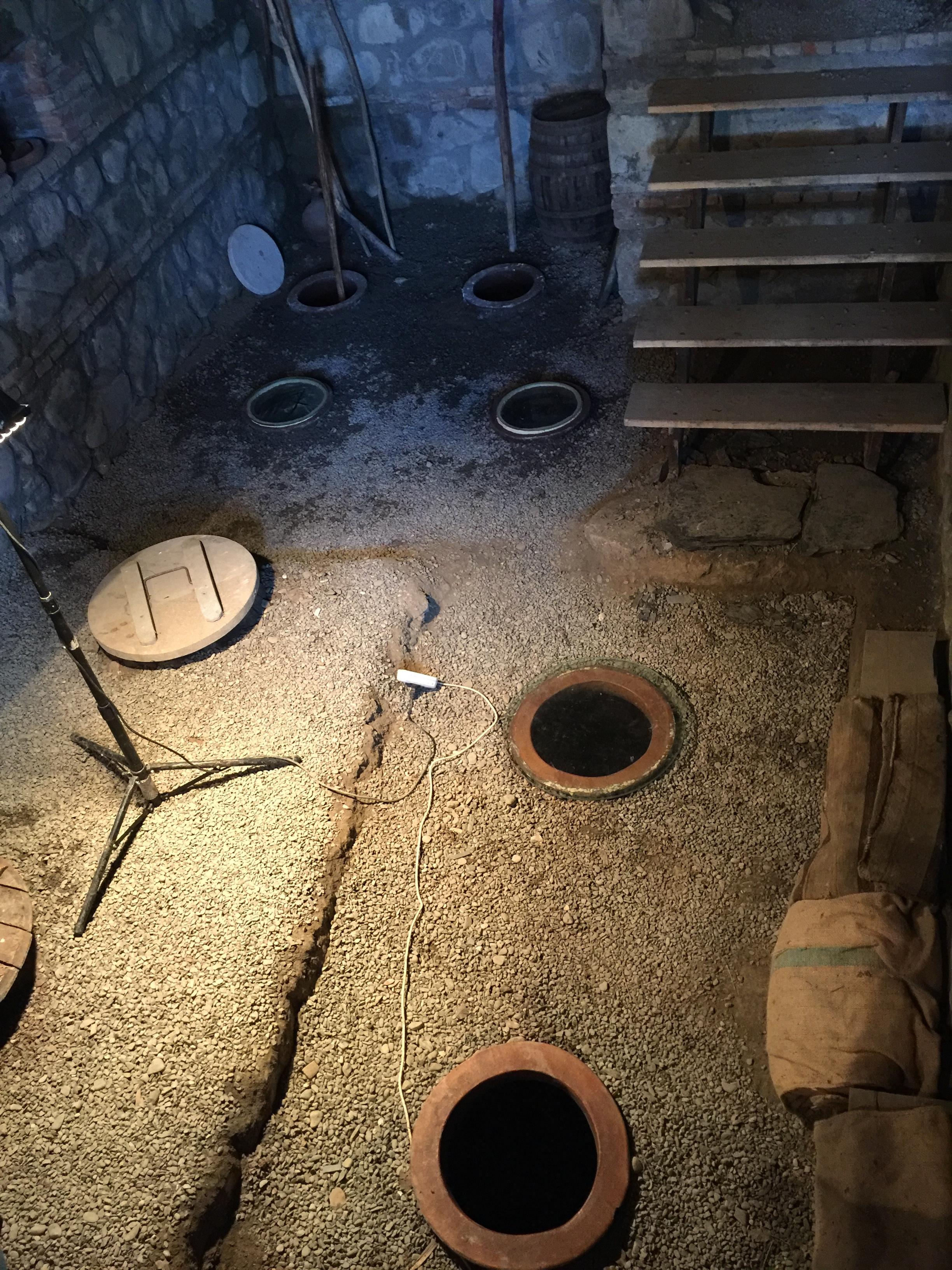 Qvevri inside Lagazi winery