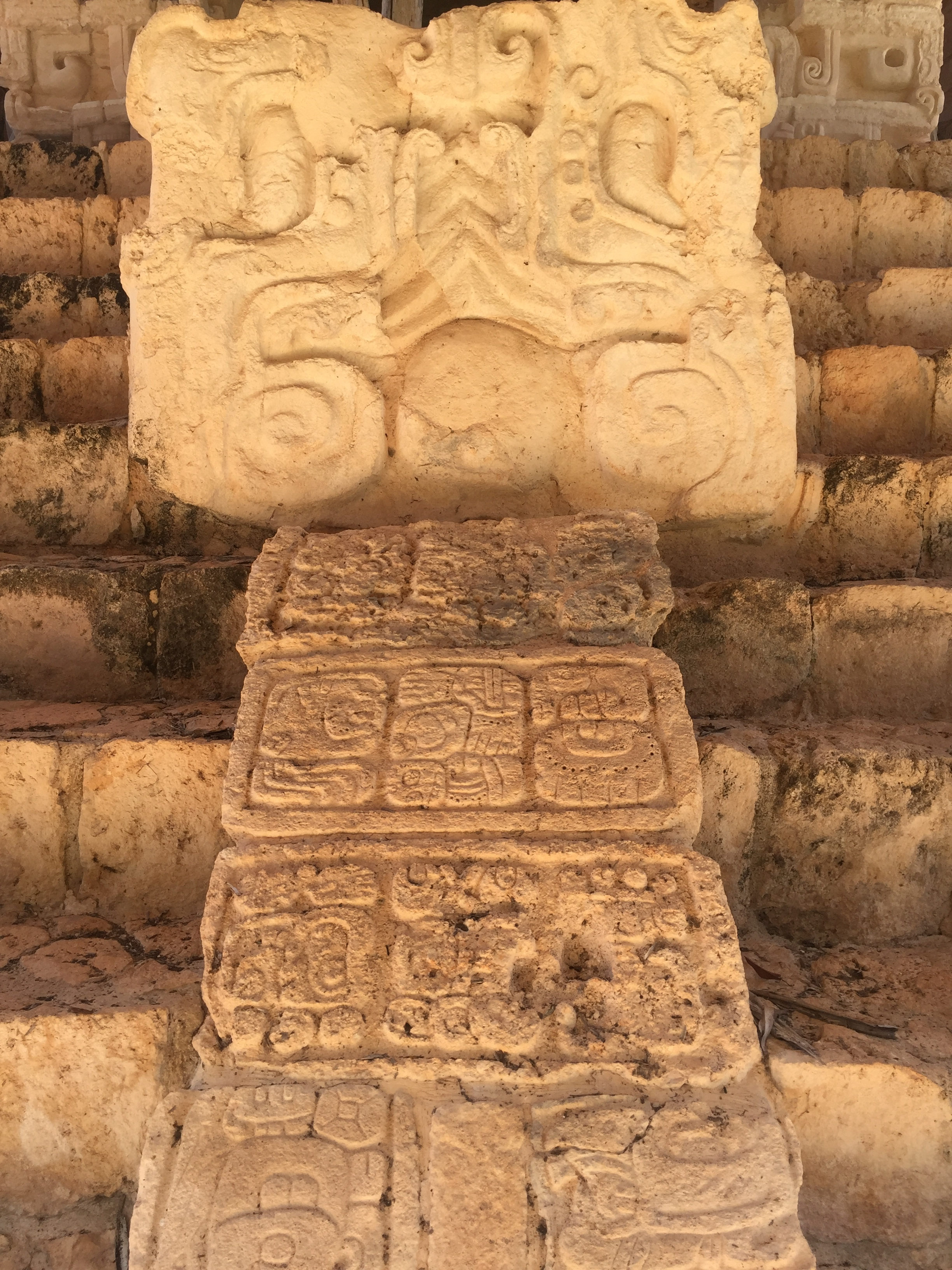 Carvings on the way up
