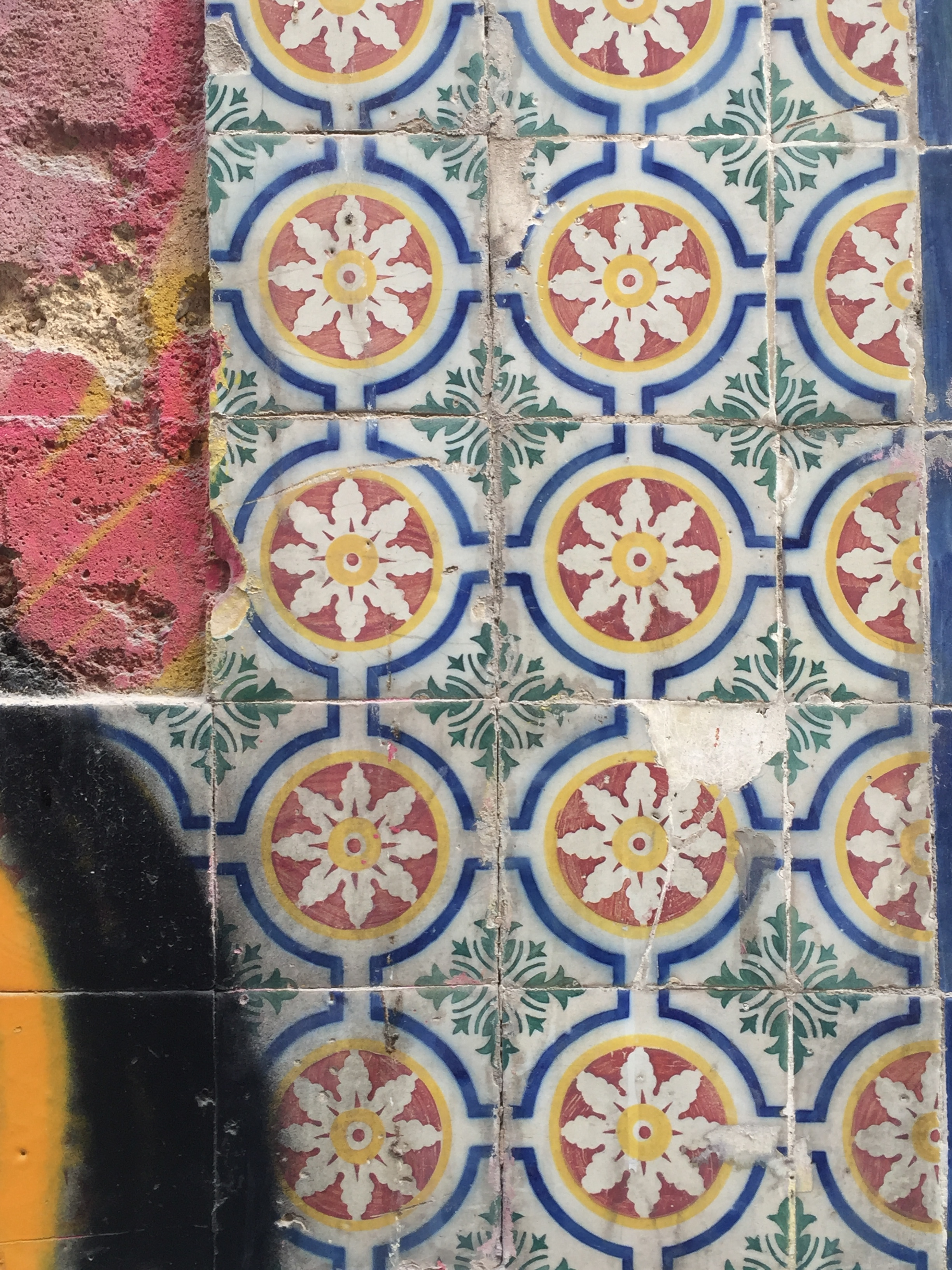 Azulejos Tiles in Lisbon Portugal