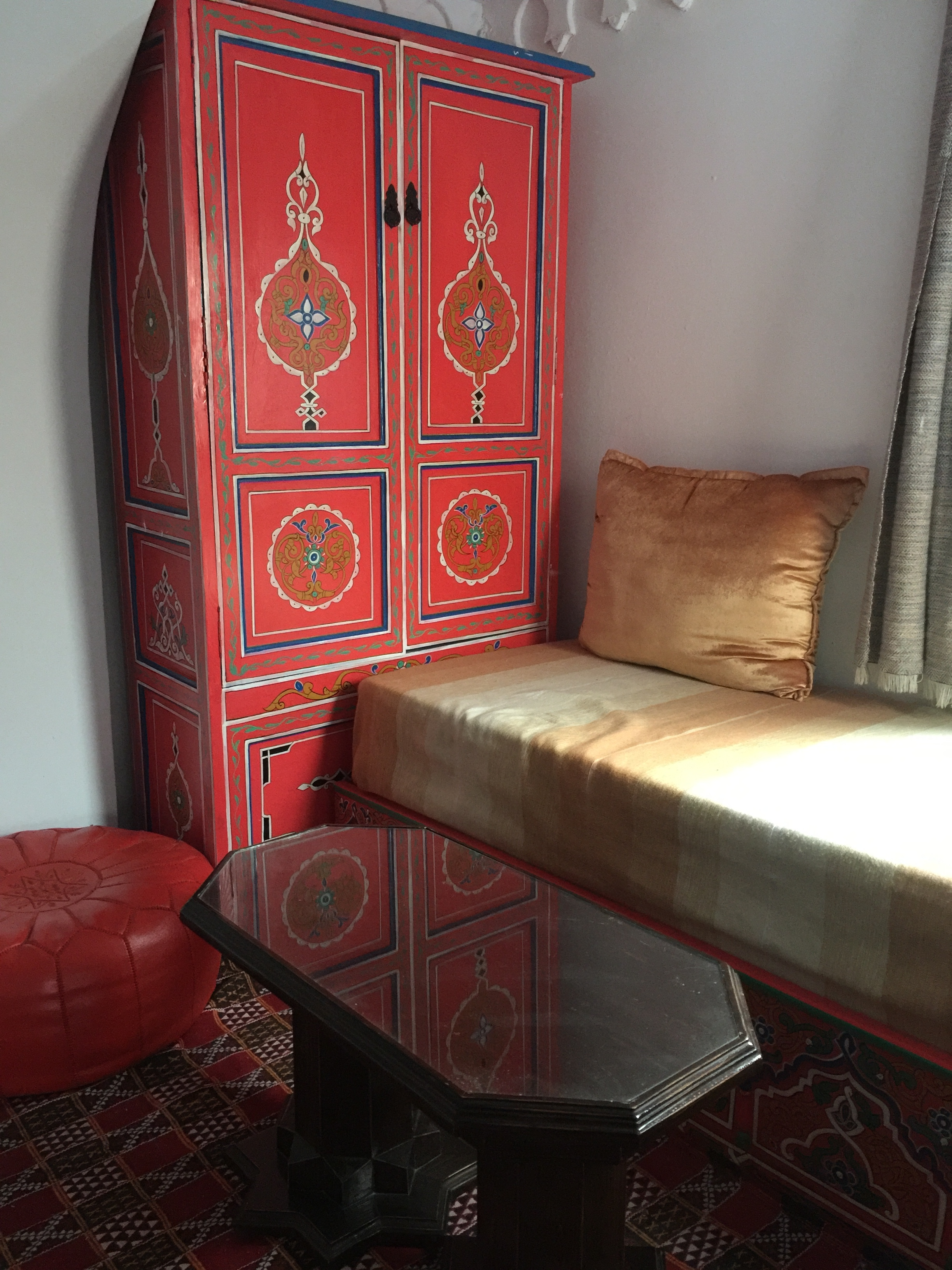 This cozy window nook at our place in Chefchaouen made for a great respite when wanting to retreat indoors.