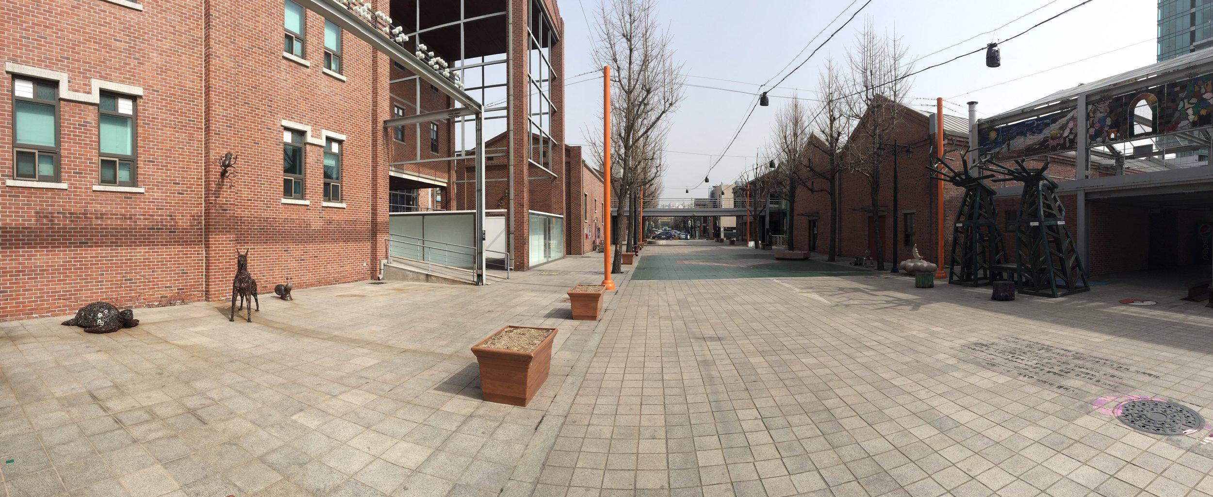 View down the Incheon Art Platform Street