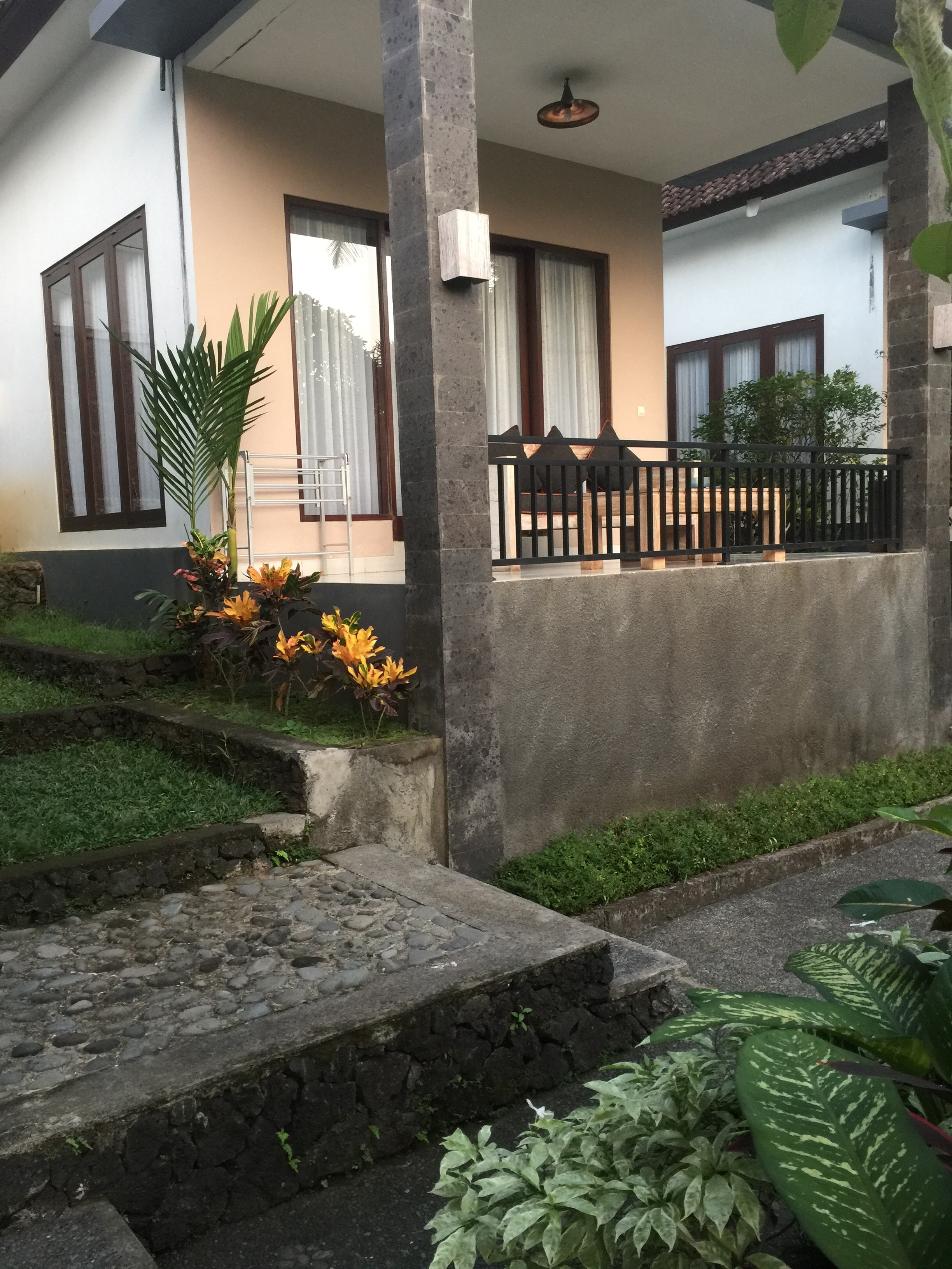 The outside of the villas at The Bali Shanti