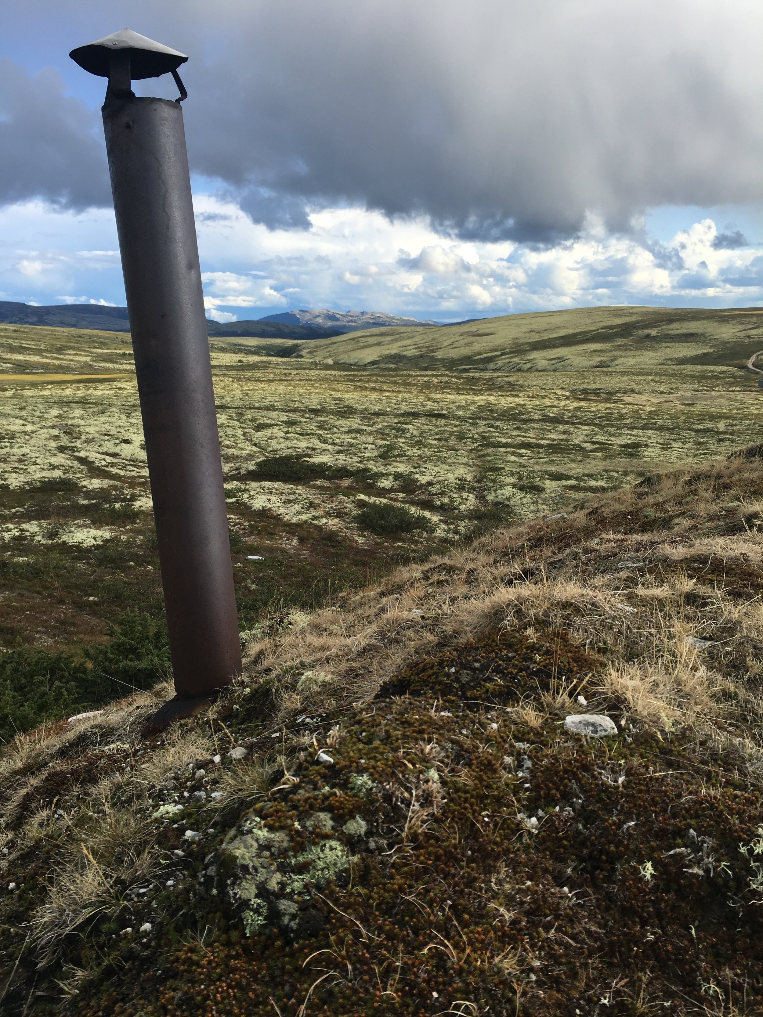 Grass Roof with Chimney in Rondane National Park Norway