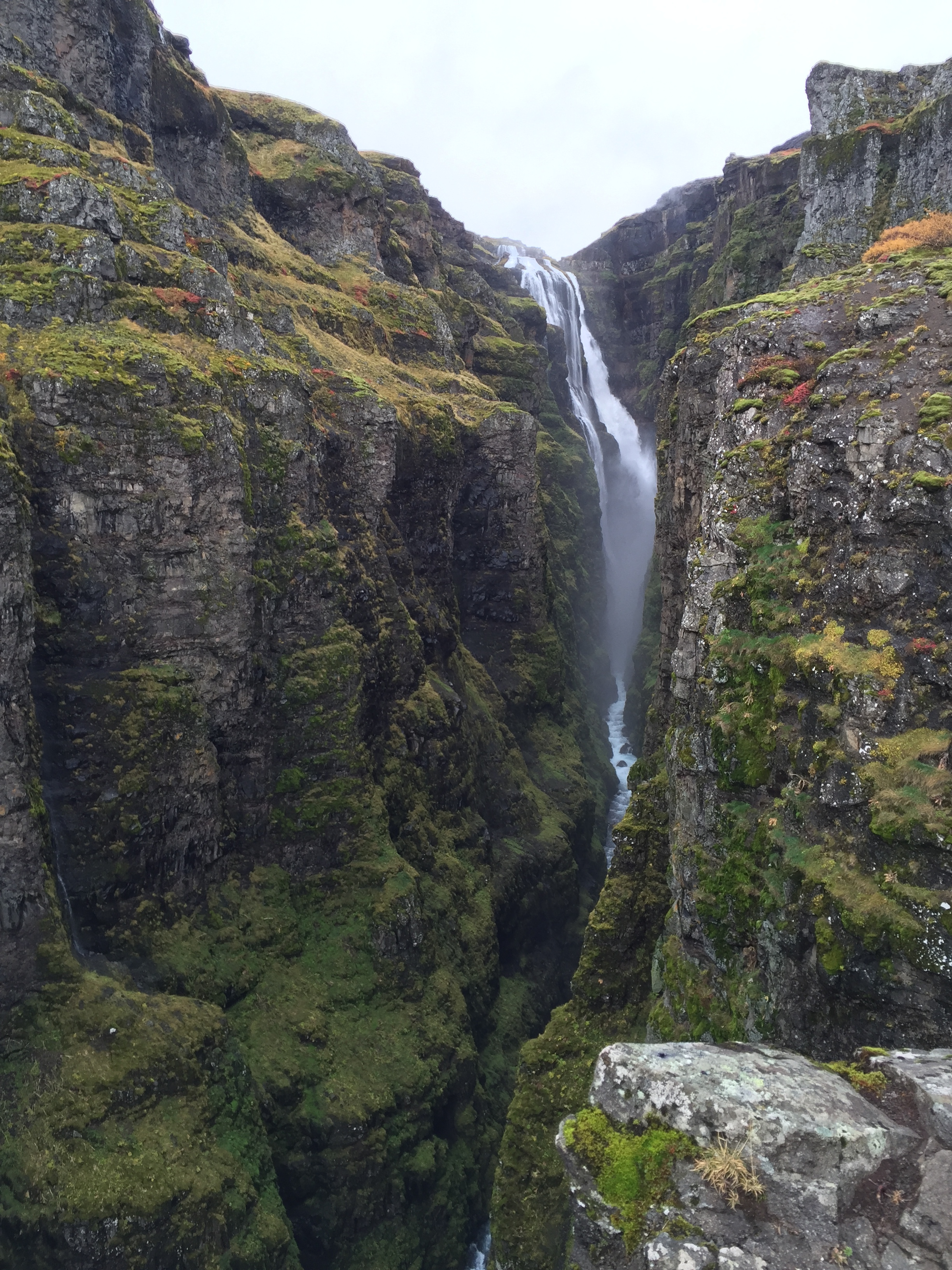 Glymur falls in Iceland. Beautiful but a bit of a challenge to get to.