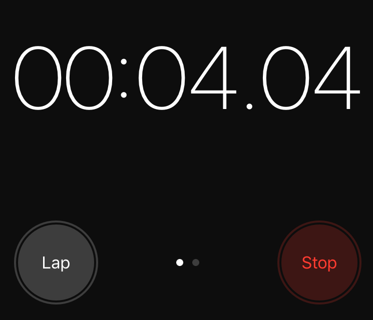 Screenshot of Iphone Stopwatch