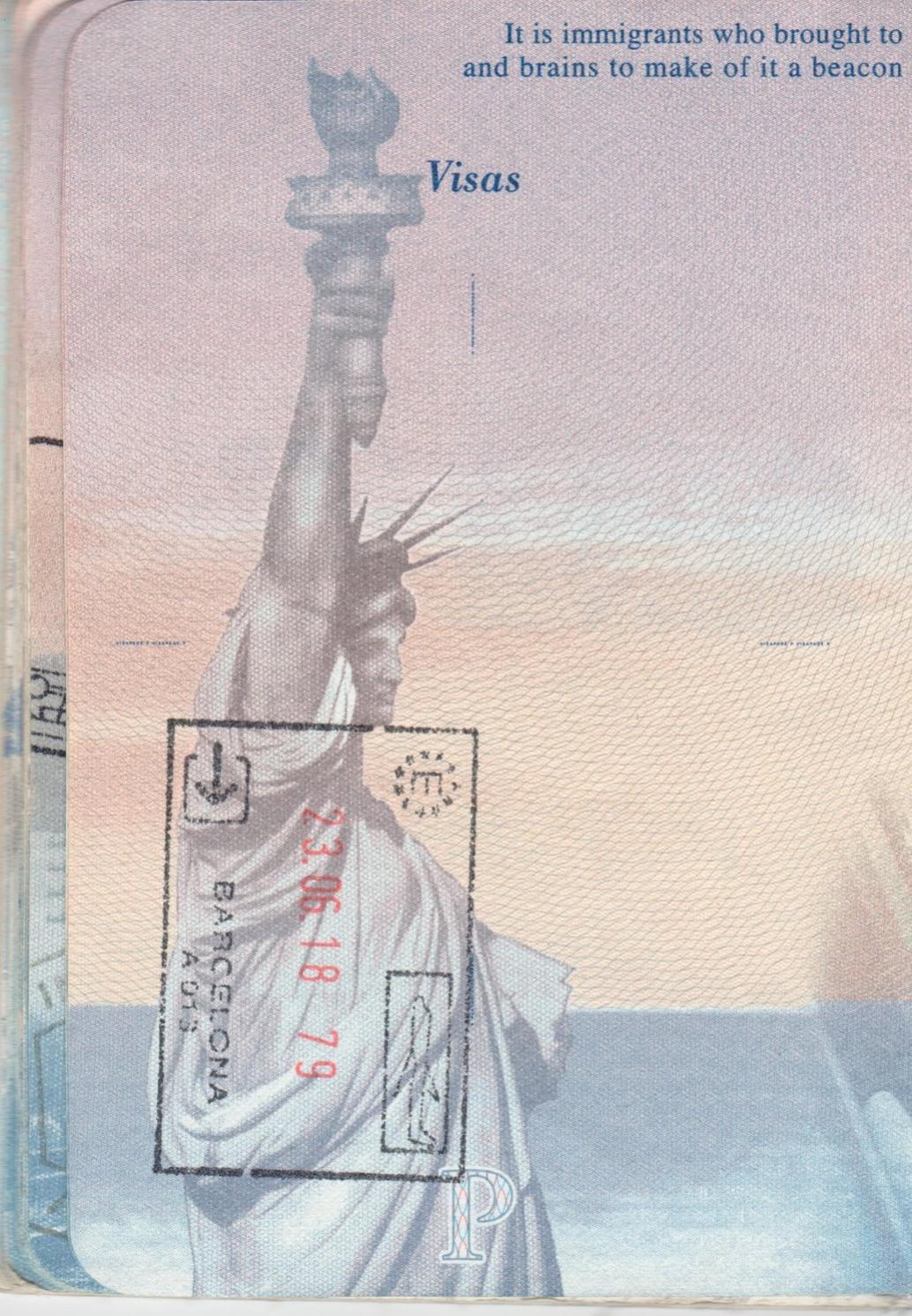 Barcelona Spain Passport Stamp