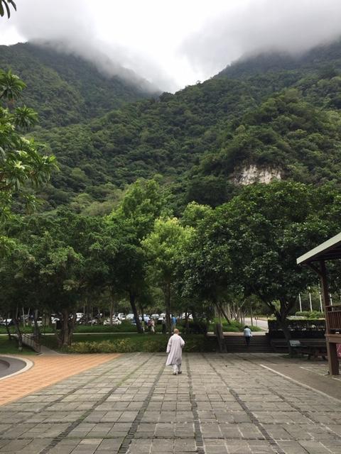 Buddhist Monk in Toroko Gorge