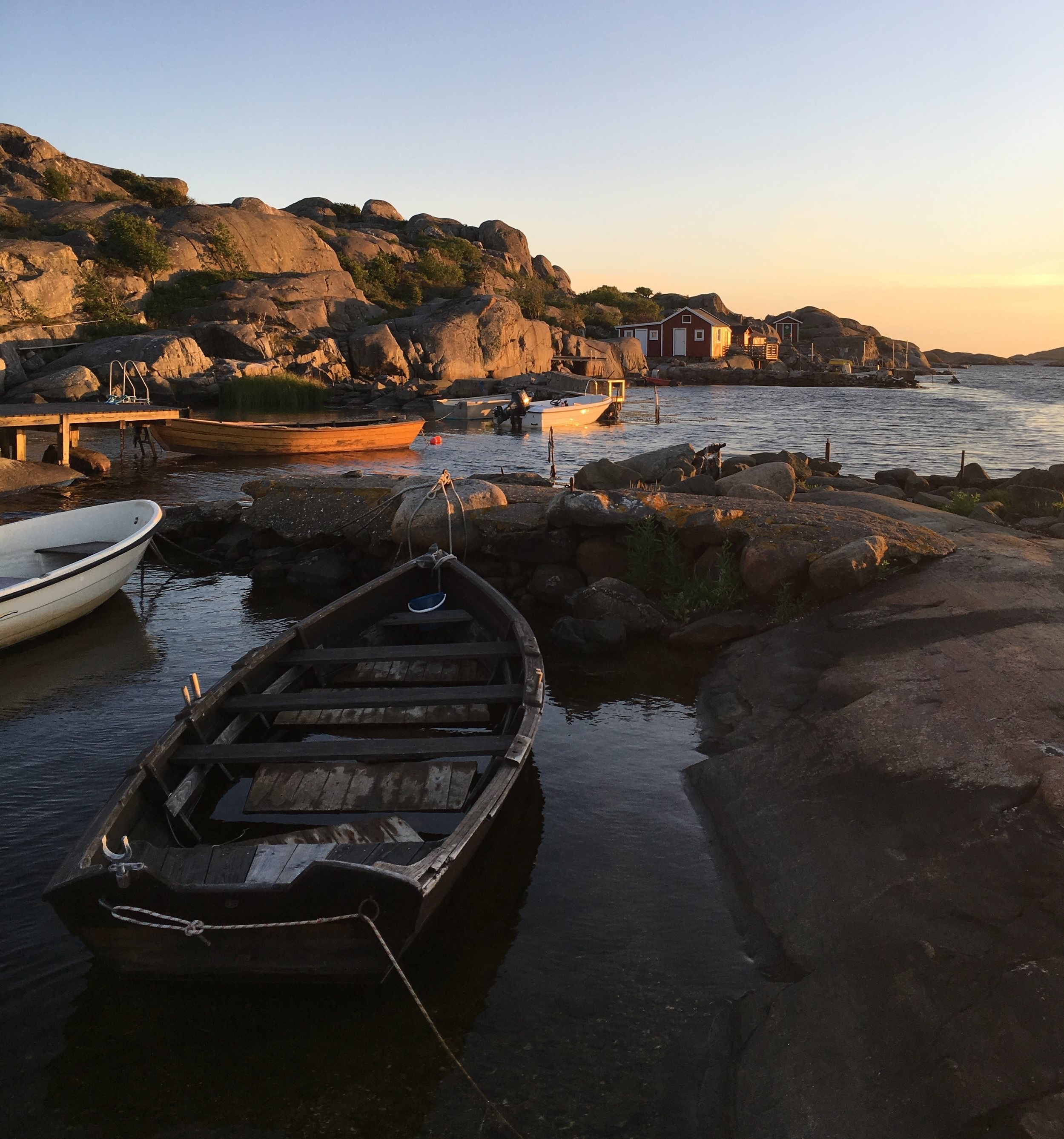 Sunset on Hono Island Sweden