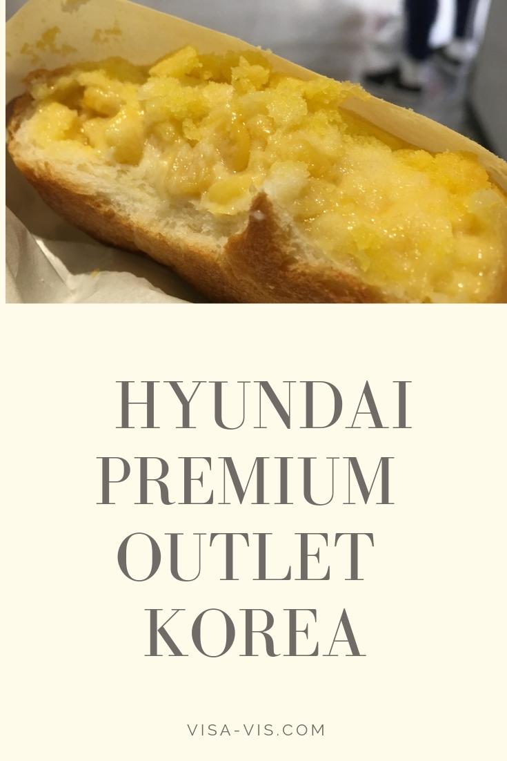 Corn Fritter at Hyundai Premium Outlet Korea
