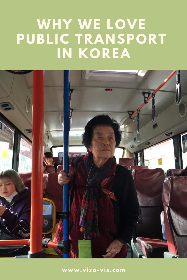 Old Korean Woman on Public Bus Korea