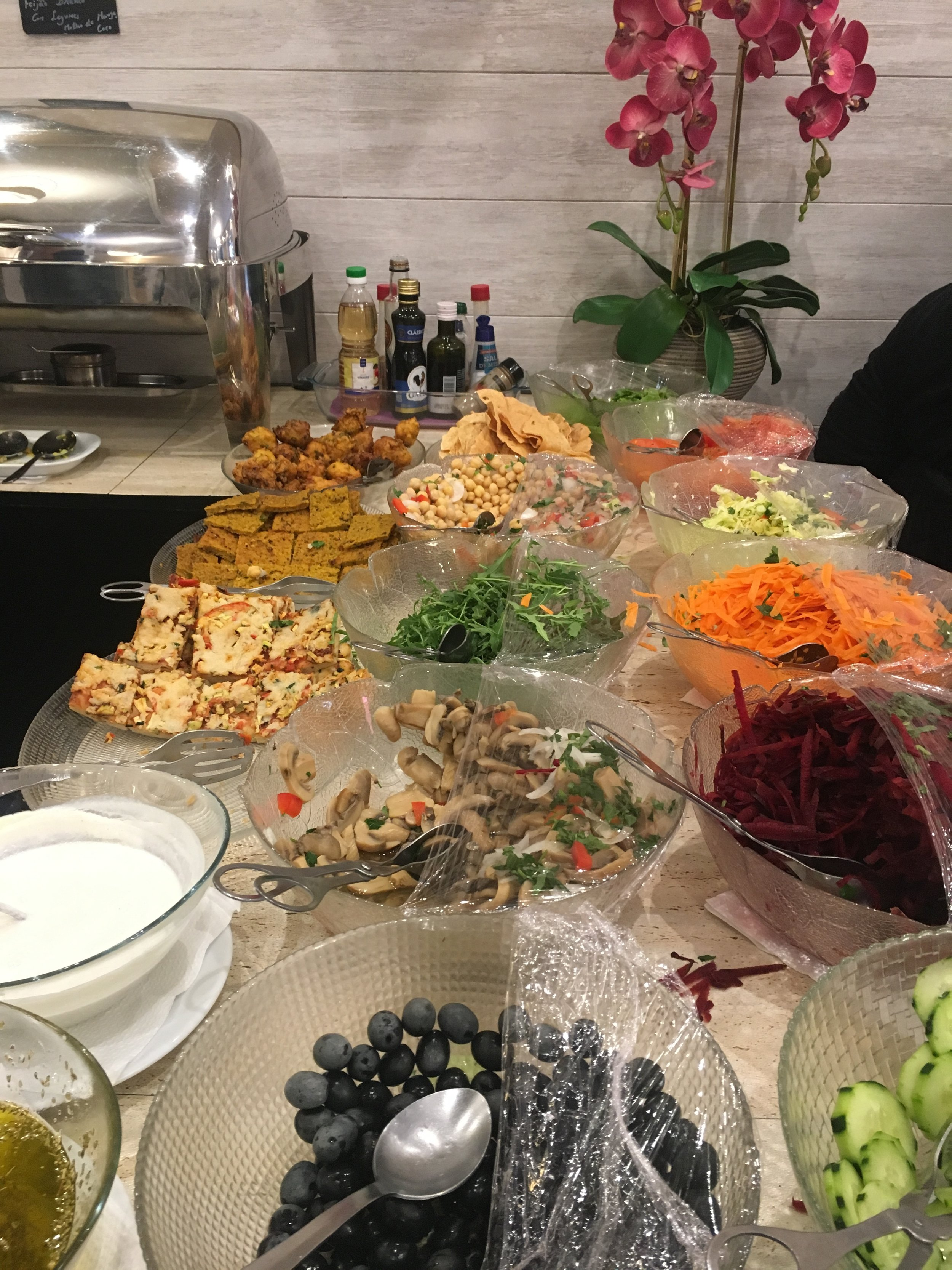 Gobs of food at the buffet