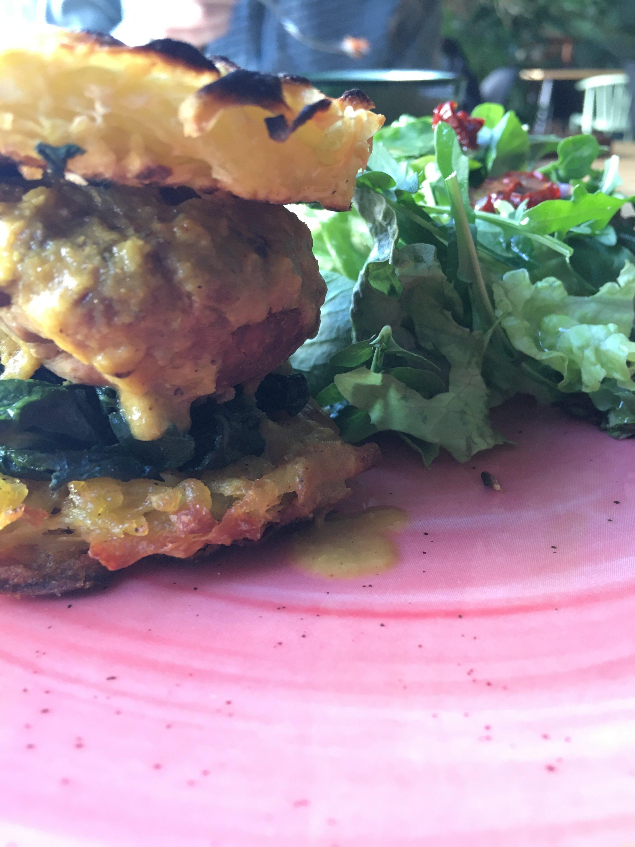 Bunless Veg burger