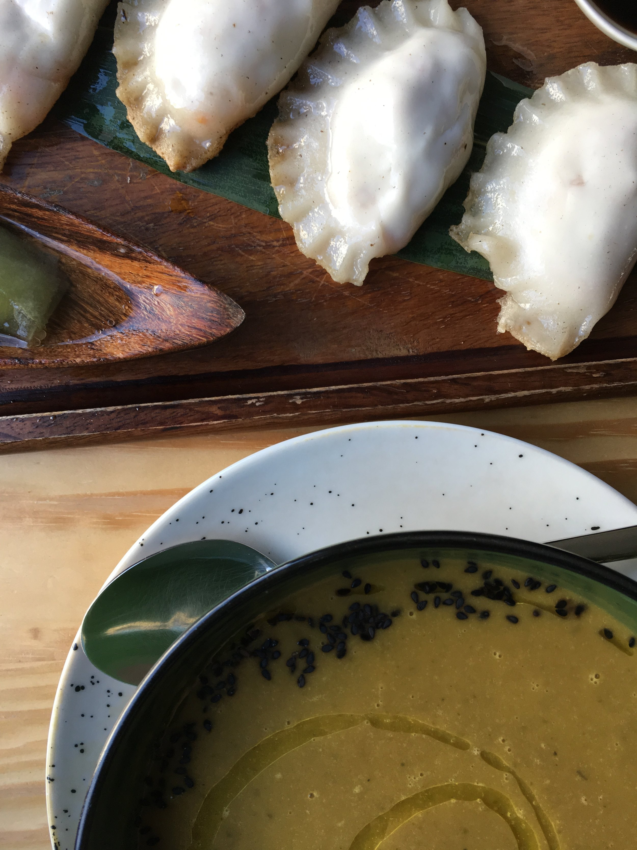 Soup and Potstickers