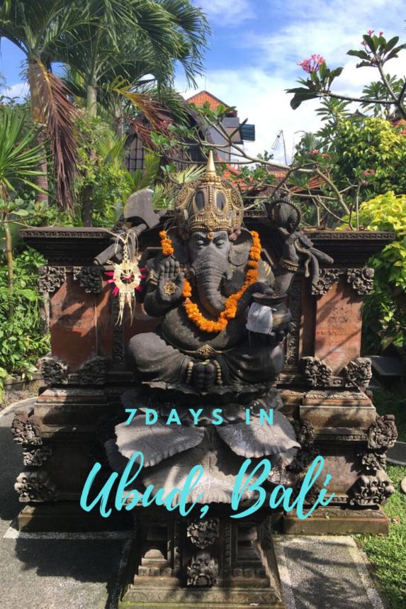 7 Days in Ubud Bali