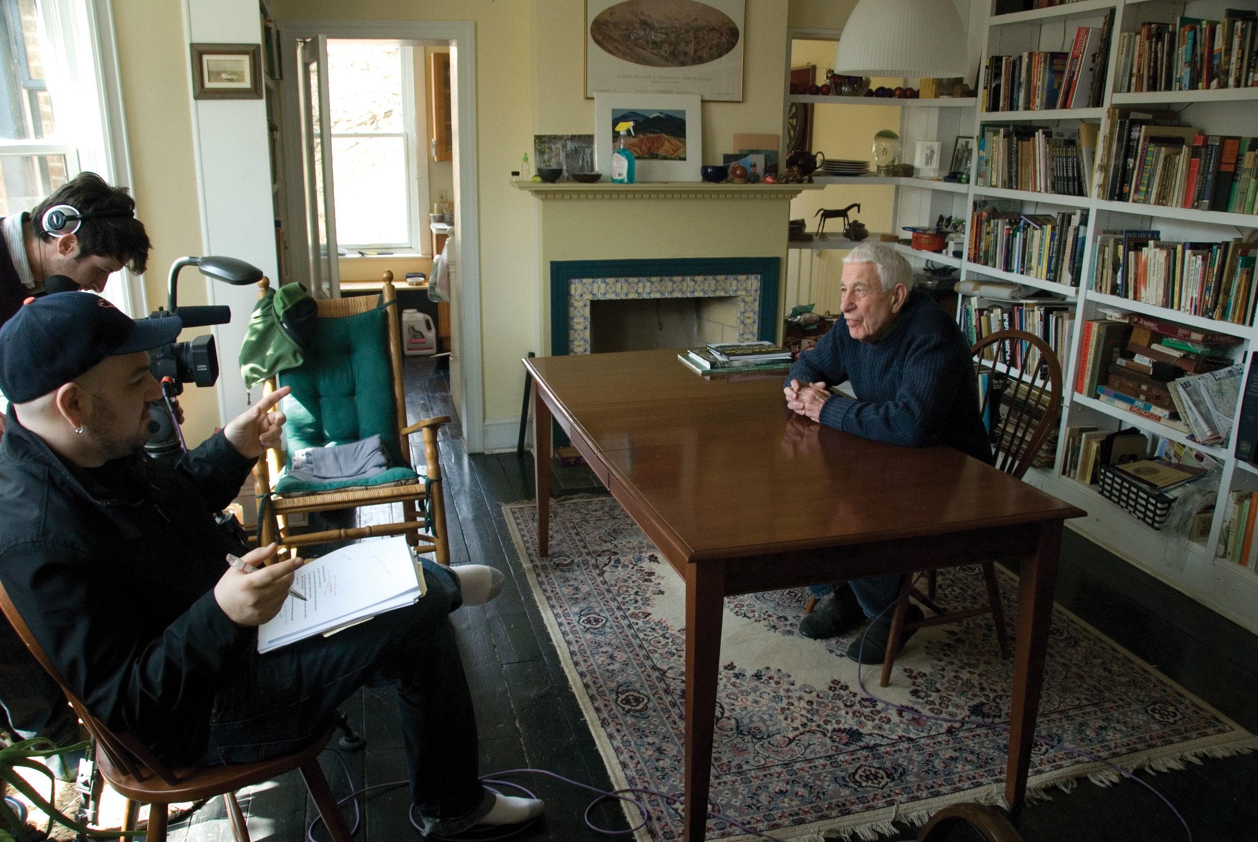 Jon Naar being interviewed for Wall Writers