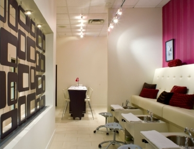 Manicure & Pedicure Bench - boutique spa downtown Edmonton