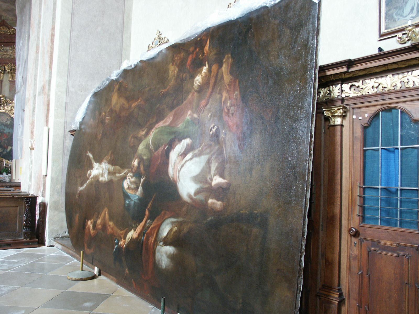 M.J.Schmidt Kreuzigung Christi restauriertes Bild kurz vor Wiedermontage.JPG