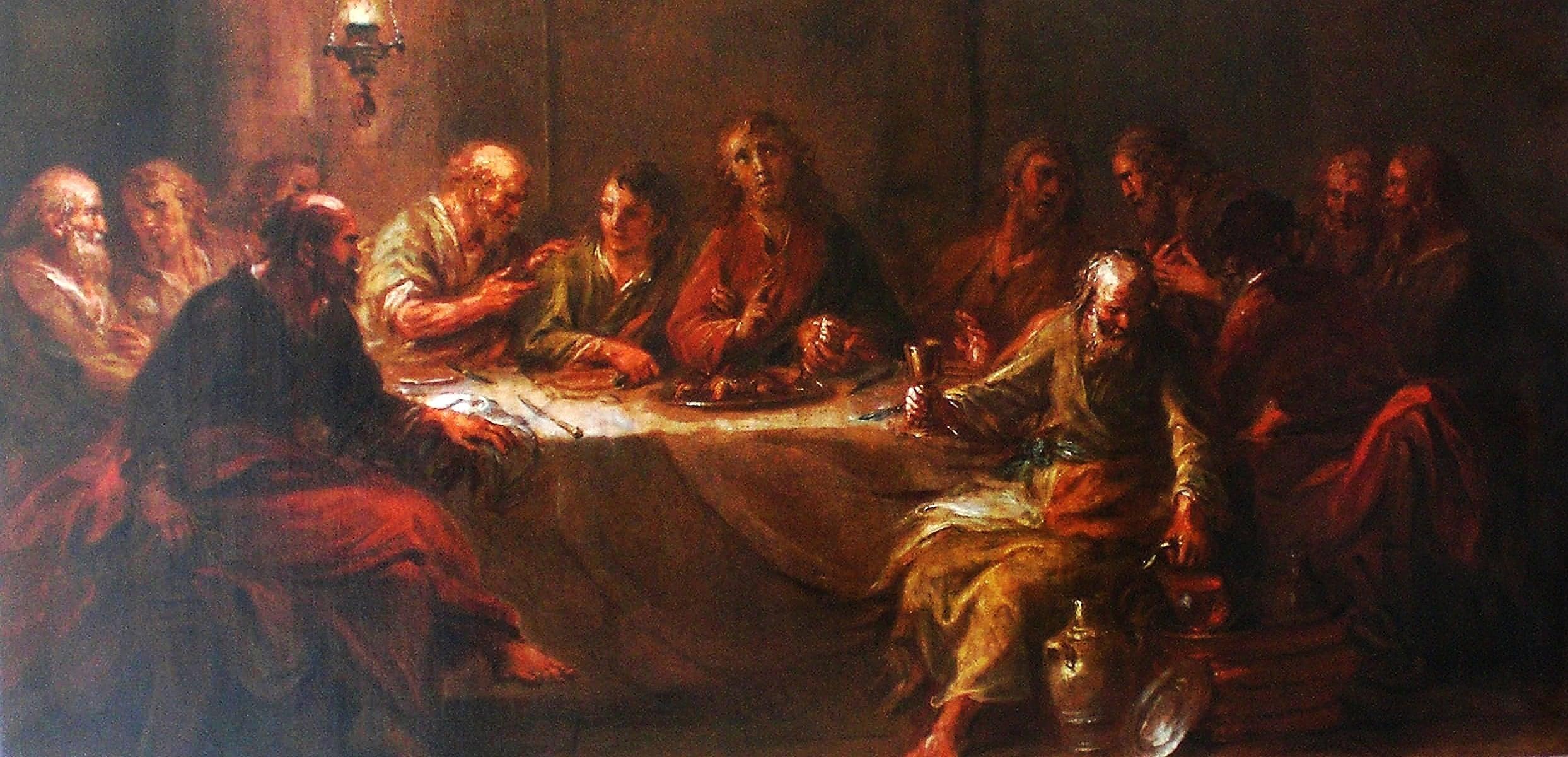 Martin Johann Schmidt letztes abendmahl – Zustand nach restaurierung